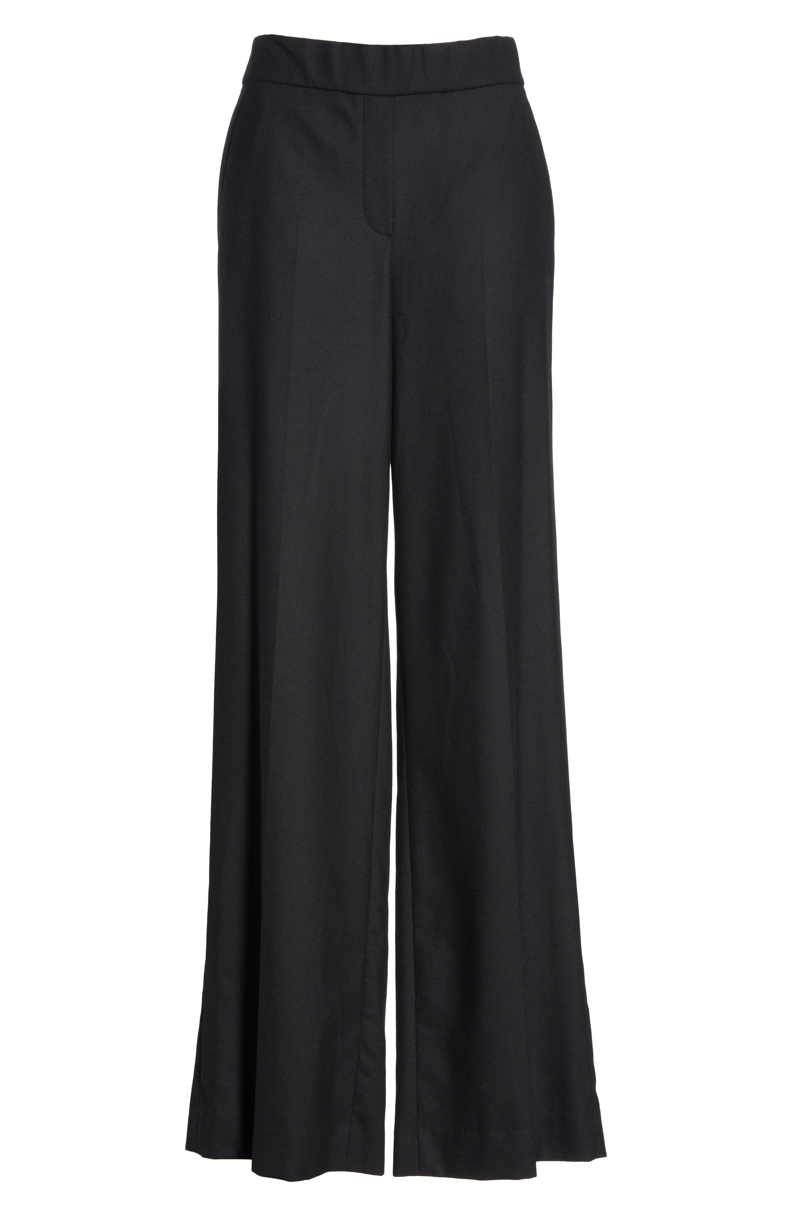 Talbert New Pure Stretch Wool Flare Leg Pants,                             Alternate thumbnail 6, color,                             001