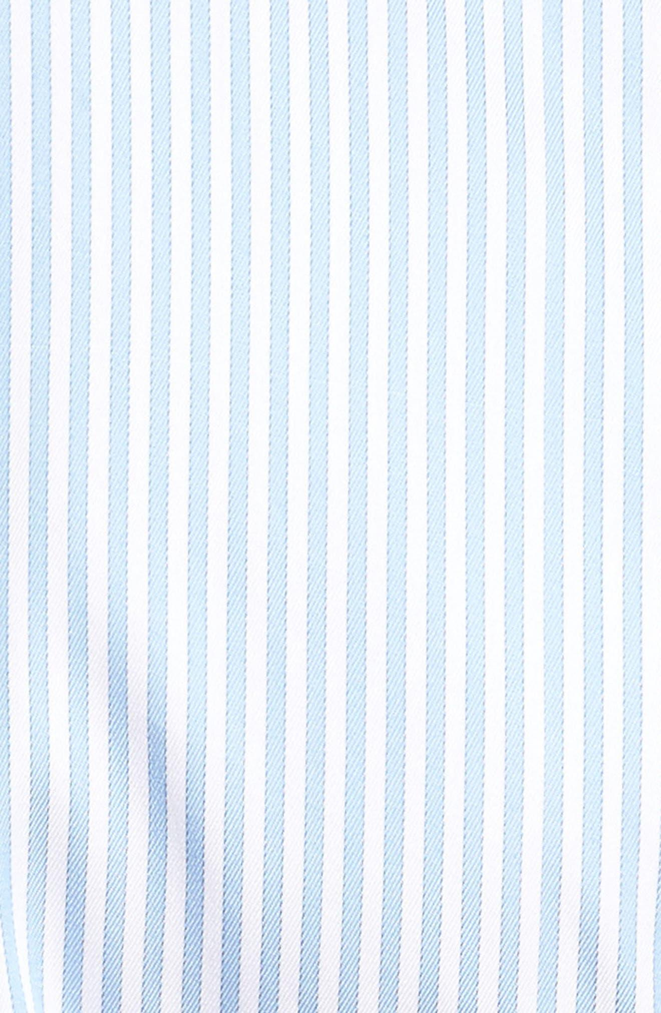 Classic Fit Crown Soft Longshot Stripe Sport Shirt,                             Alternate thumbnail 5, color,                             439
