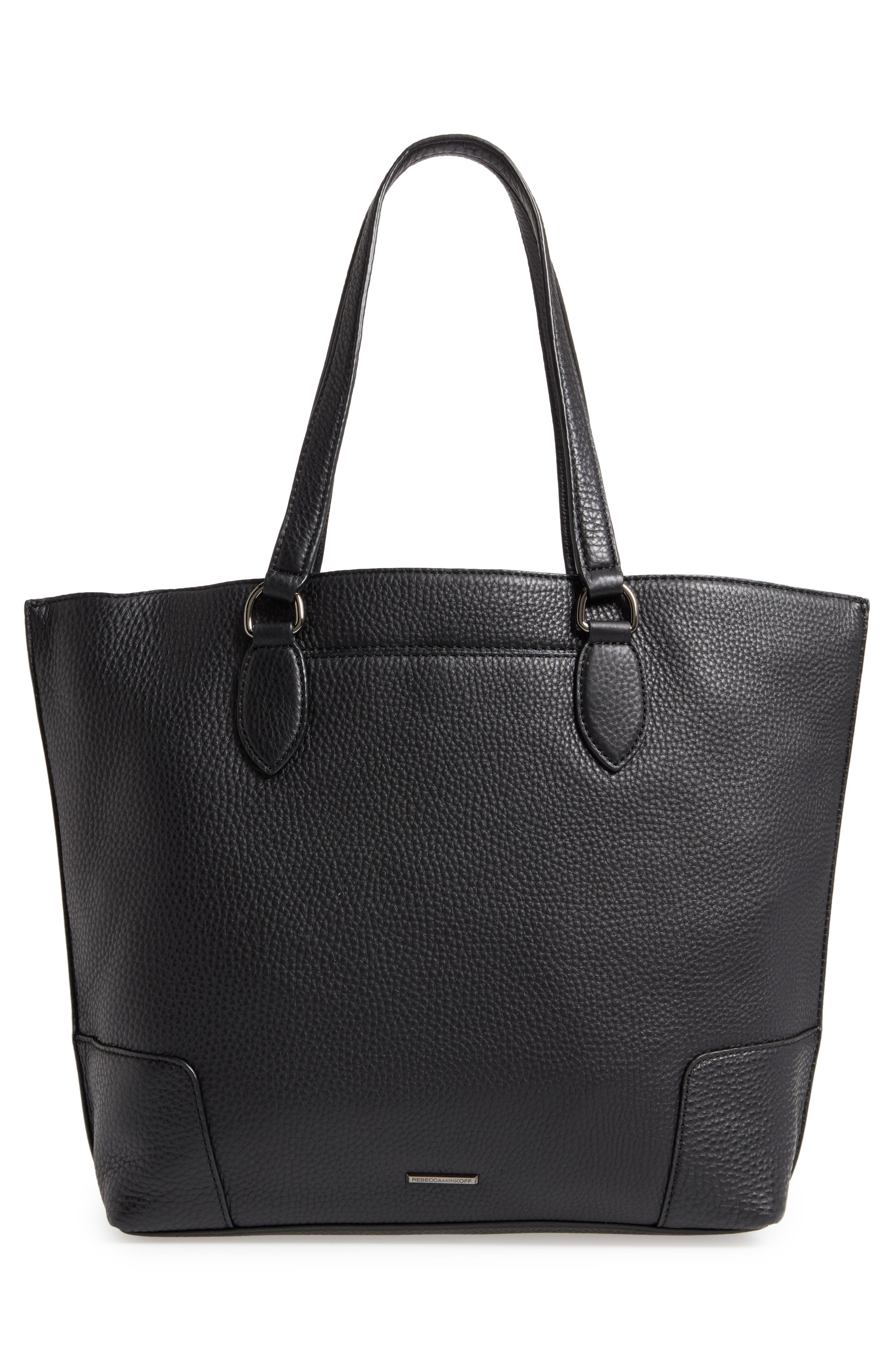 Moonwalking Leather Tote,                             Alternate thumbnail 3, color,                             001