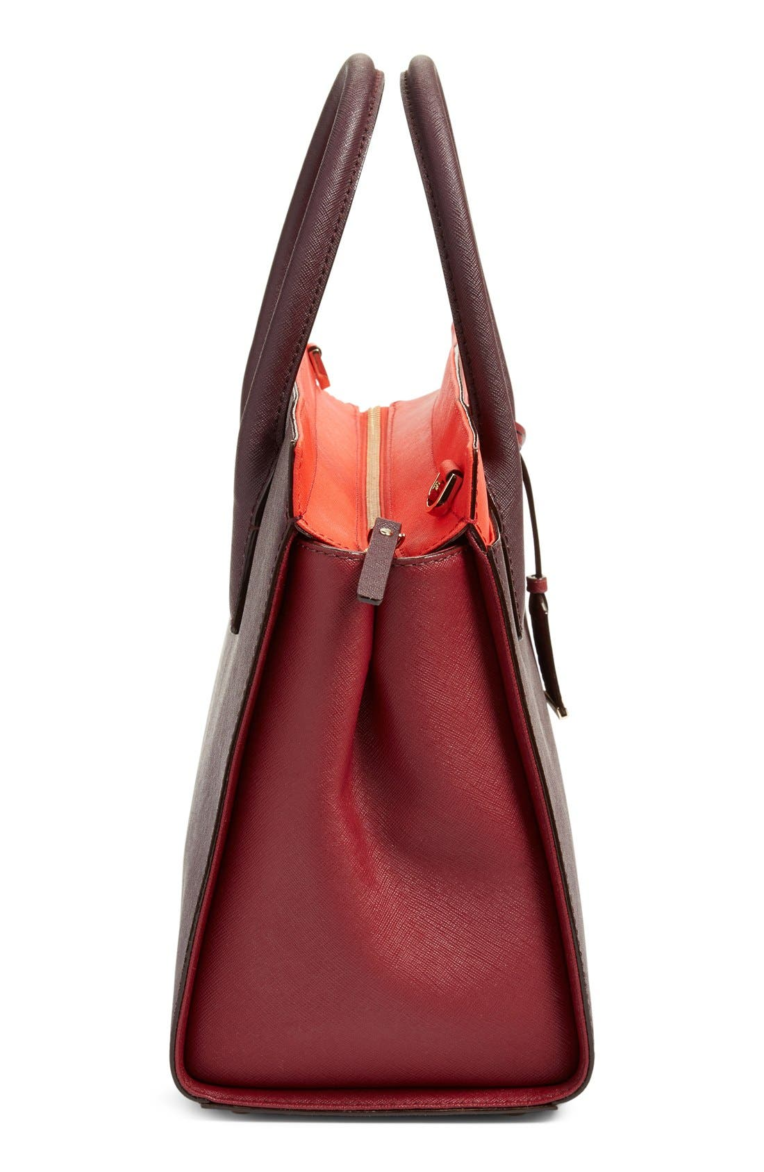 cameron street - candace leather satchel,                             Alternate thumbnail 112, color,