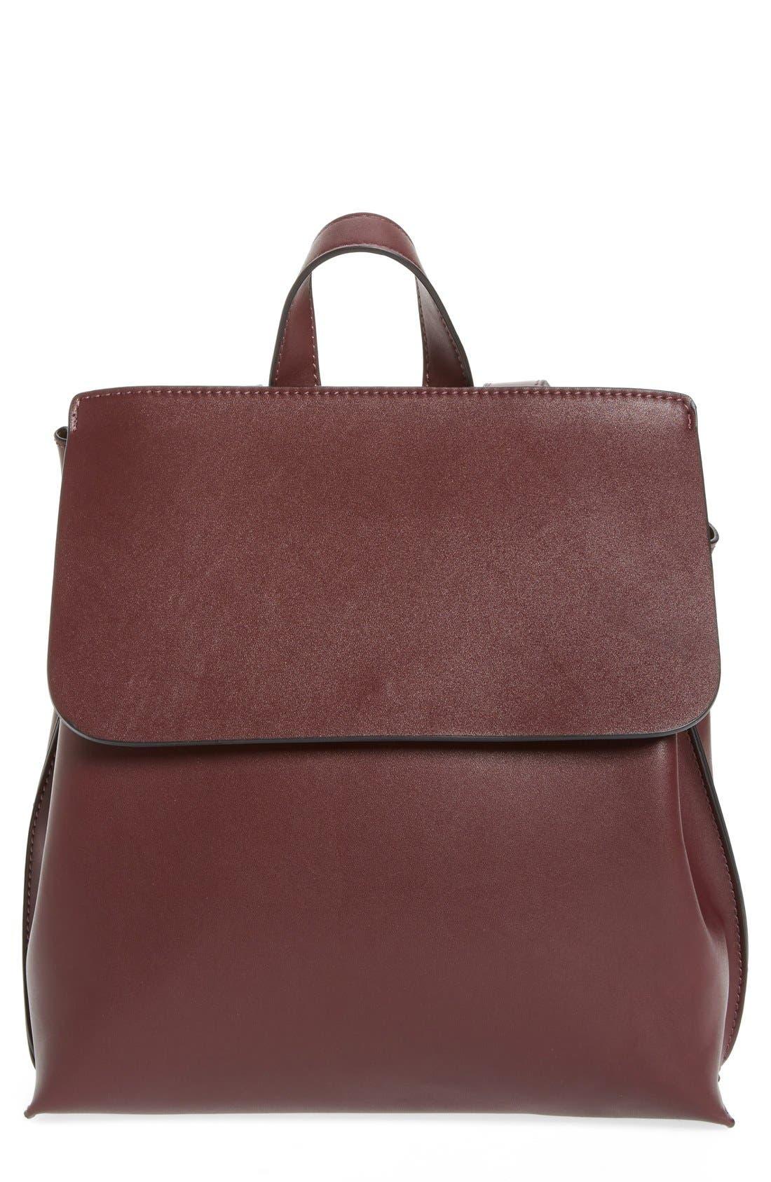 Selena Faux Leather Backpack,                             Main thumbnail 4, color,