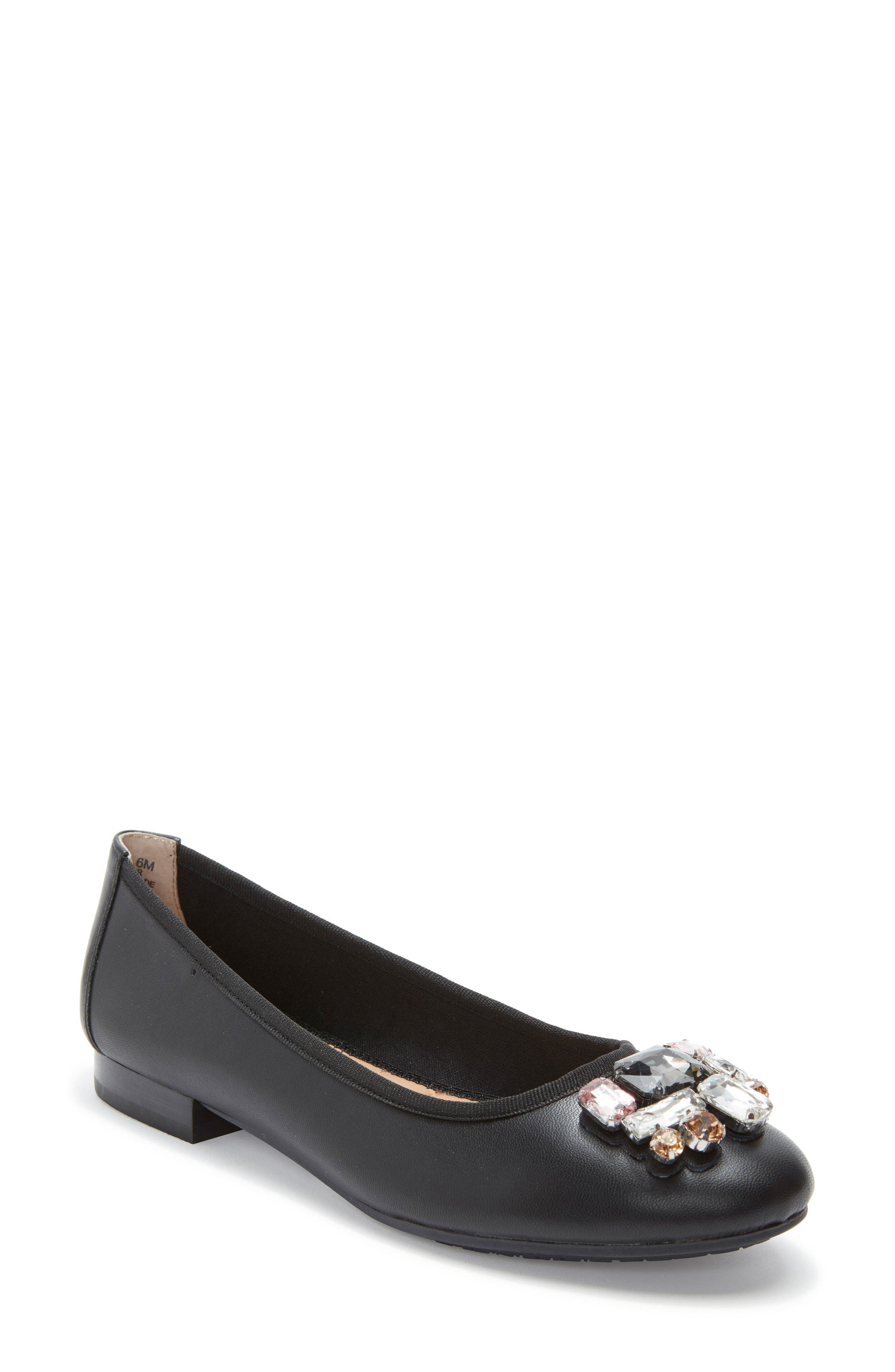 Sapphire Crystal Embellished Flat,                         Main,                         color, 001