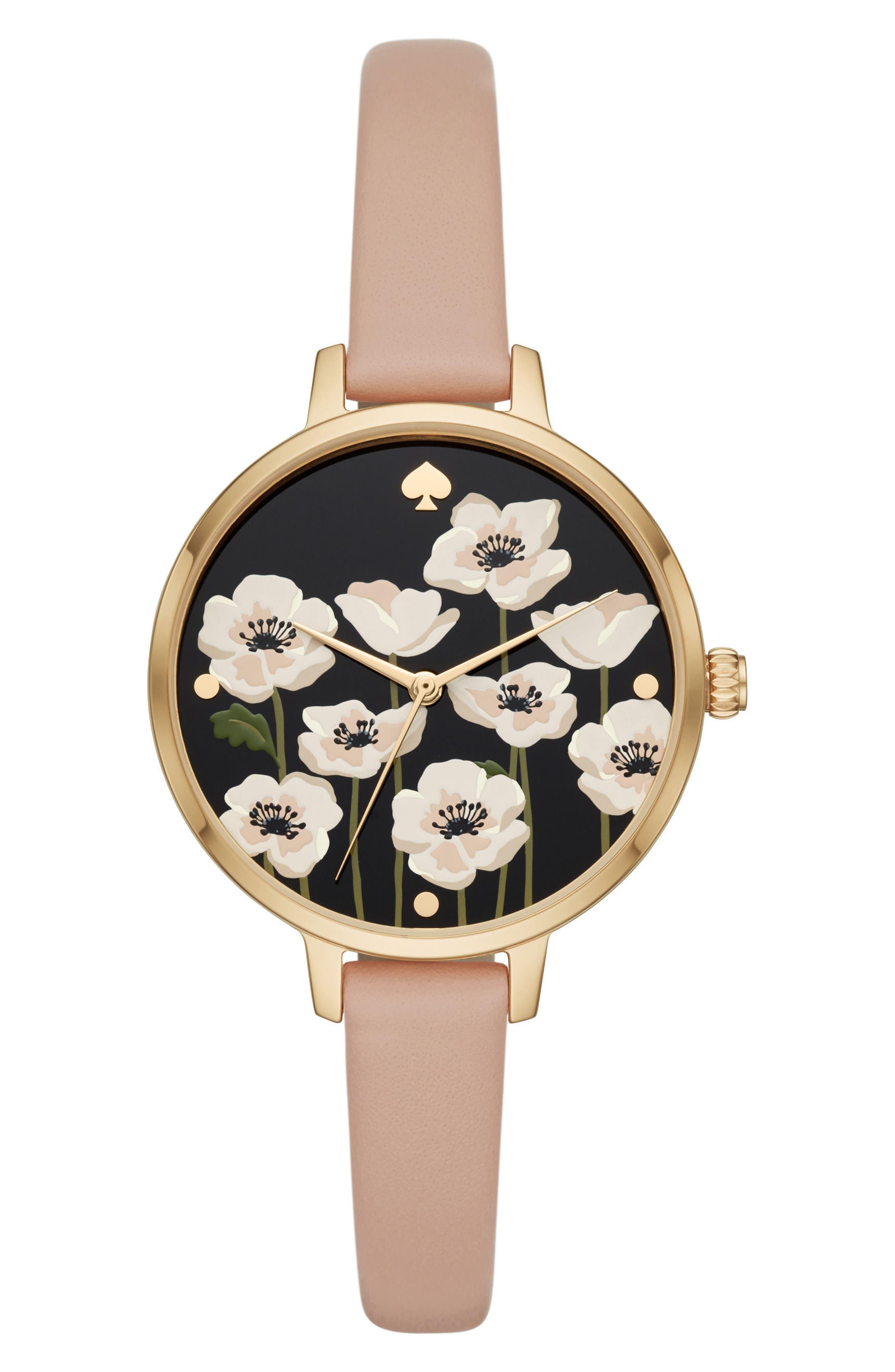 metro poppy watch & earring set, 34mm,                             Main thumbnail 1, color,