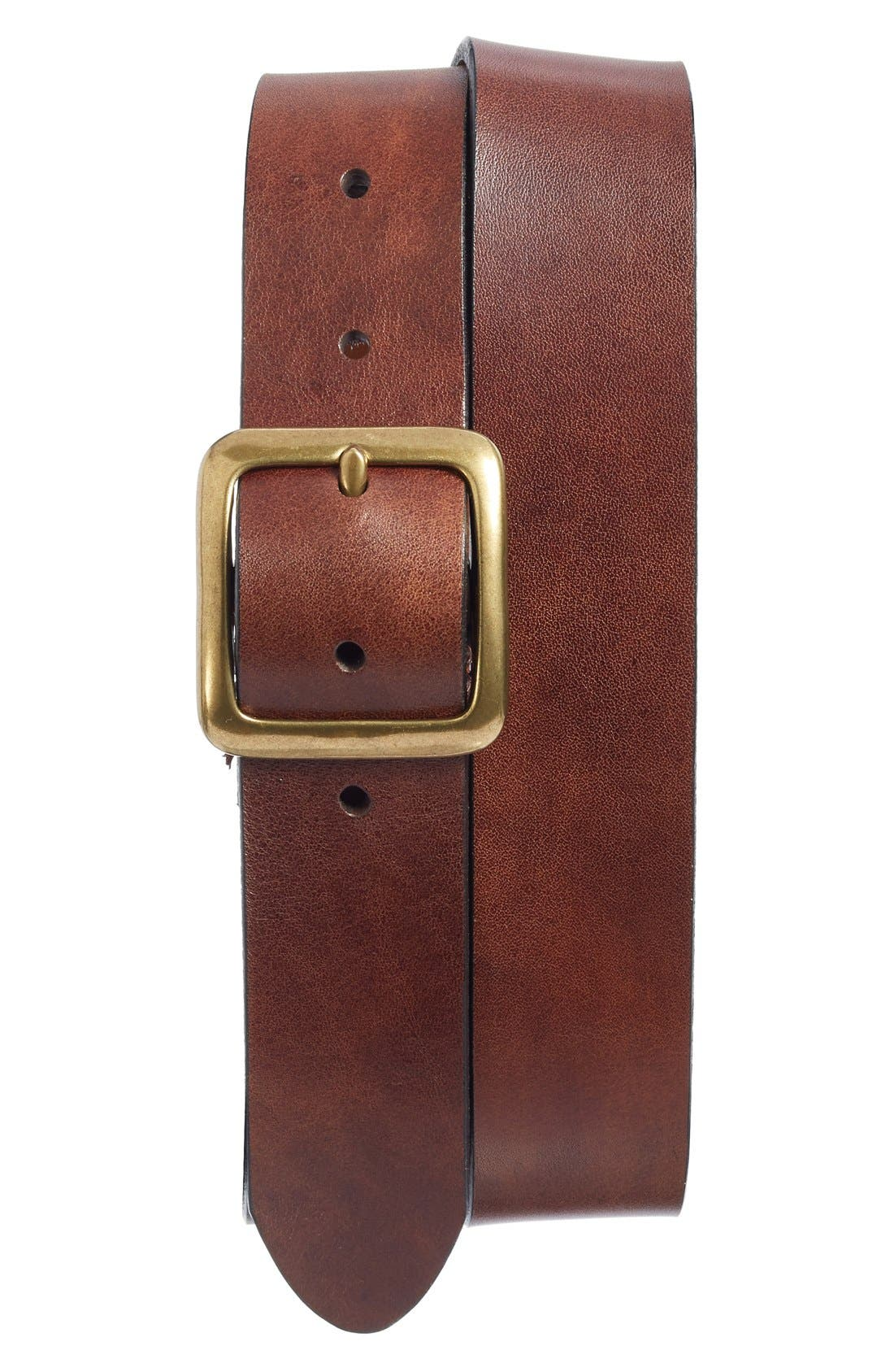 The Bellow Americano Leather Belt,                             Main thumbnail 1, color,                             200