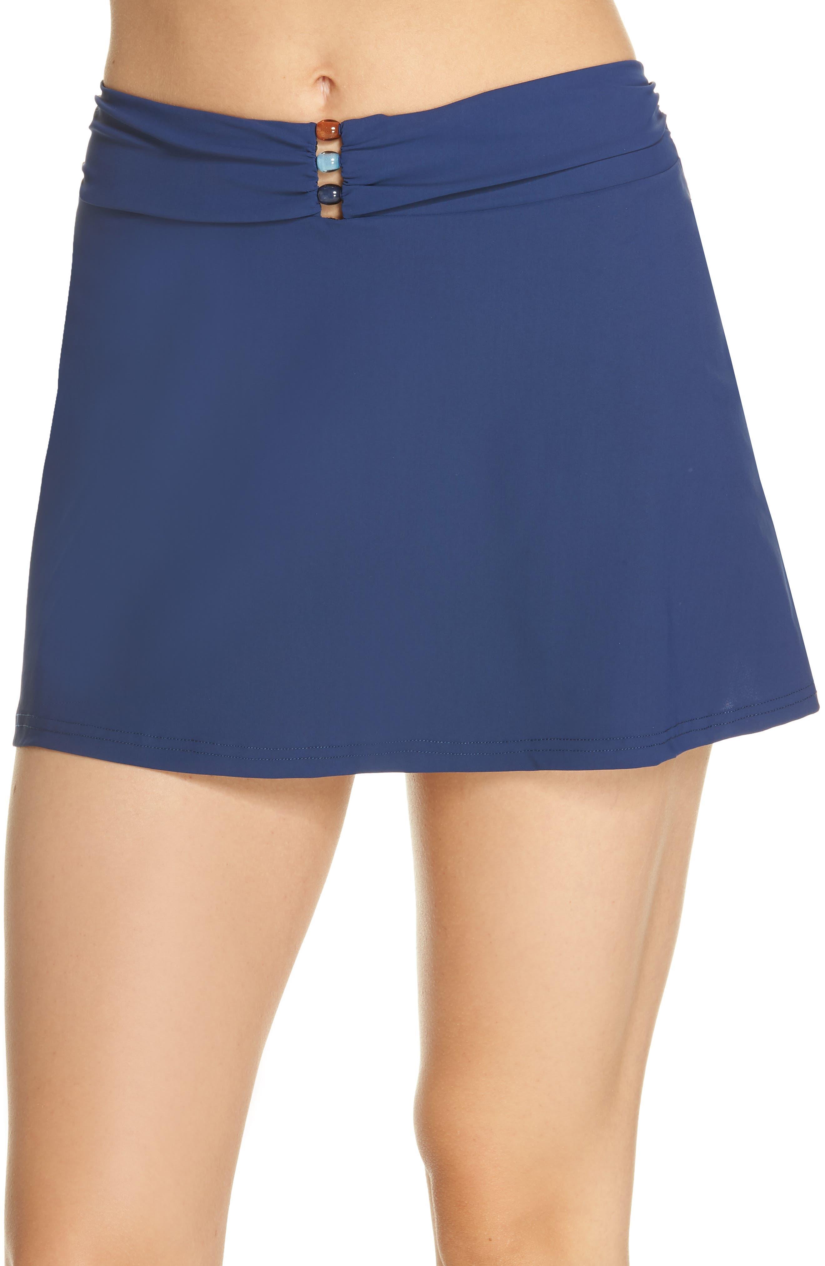 Beaded Cover-Up Skirt,                             Main thumbnail 1, color,                             PETROL