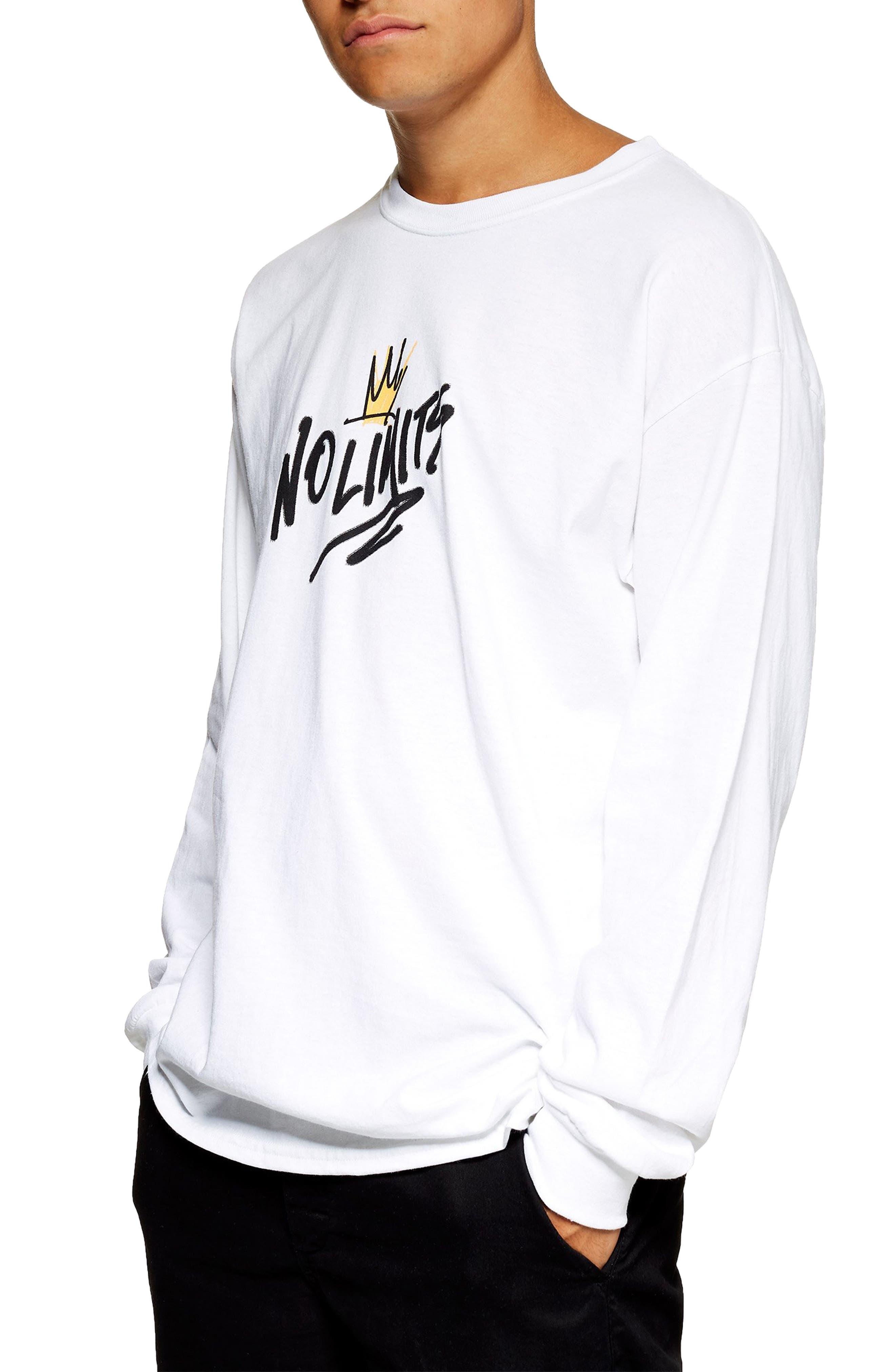 No Limits Graphic T-Shirt,                         Main,                         color, WHITE MULTI