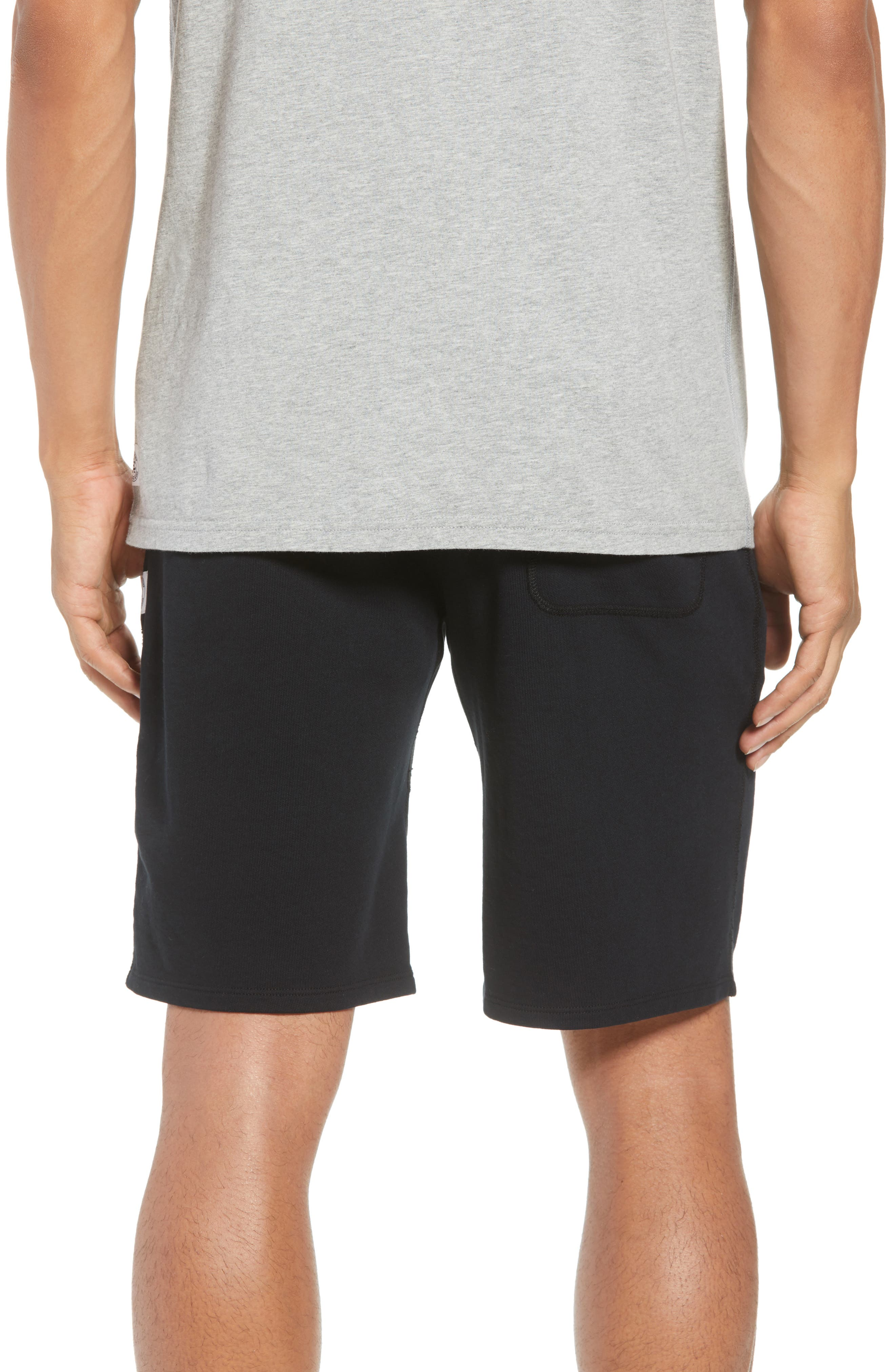 Shorts Lightweight Classic Fit Knit Shorts,                             Alternate thumbnail 2, color,                             BLACK