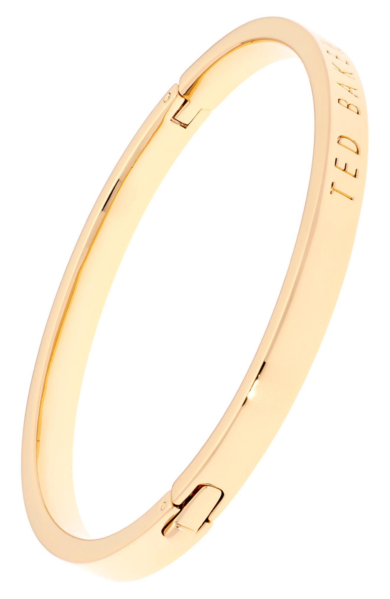 Metallic Hinge Bangle Bracelet,                             Alternate thumbnail 6, color,