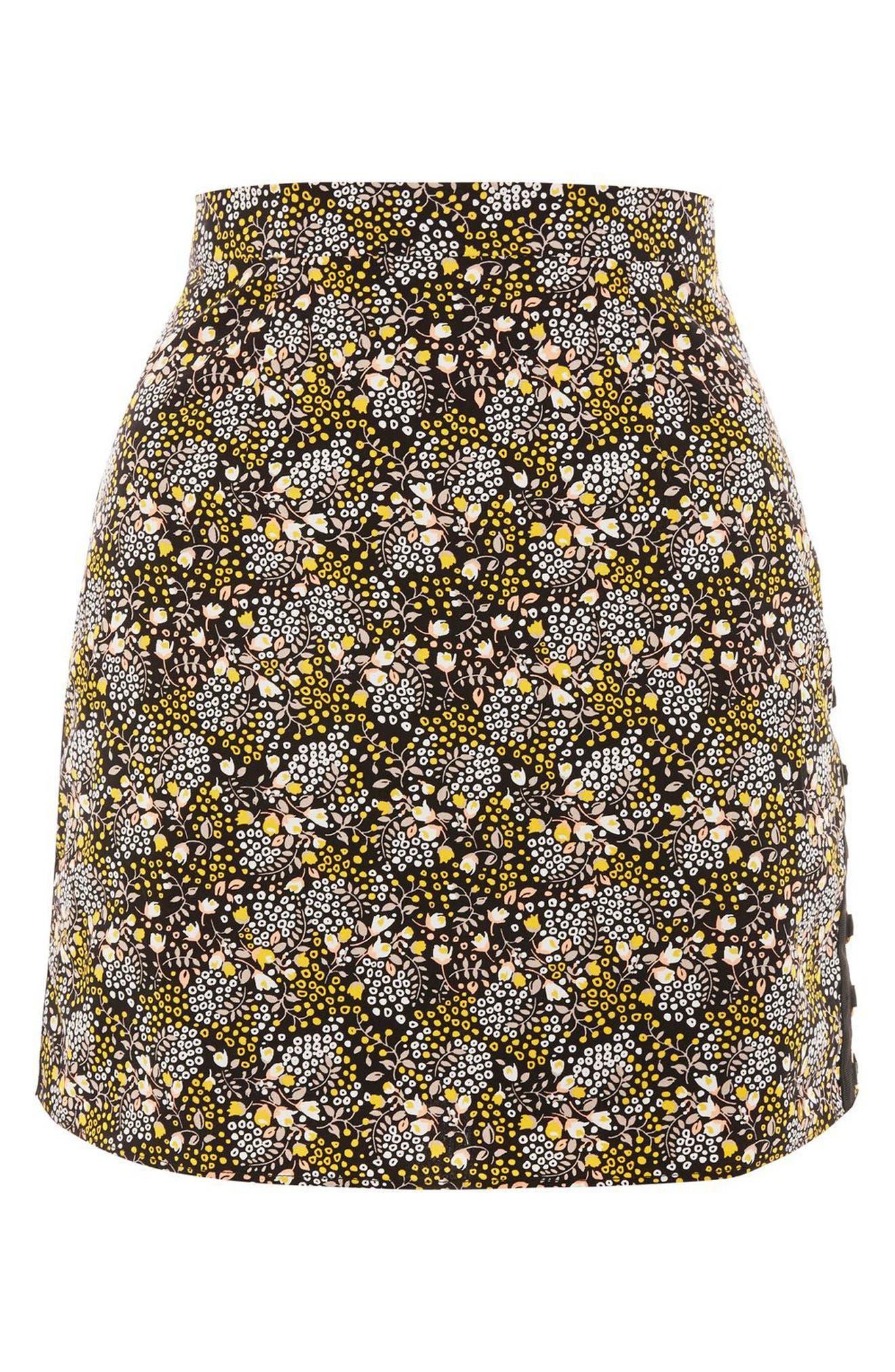 Ring Detail Miniskirt,                             Alternate thumbnail 4, color,