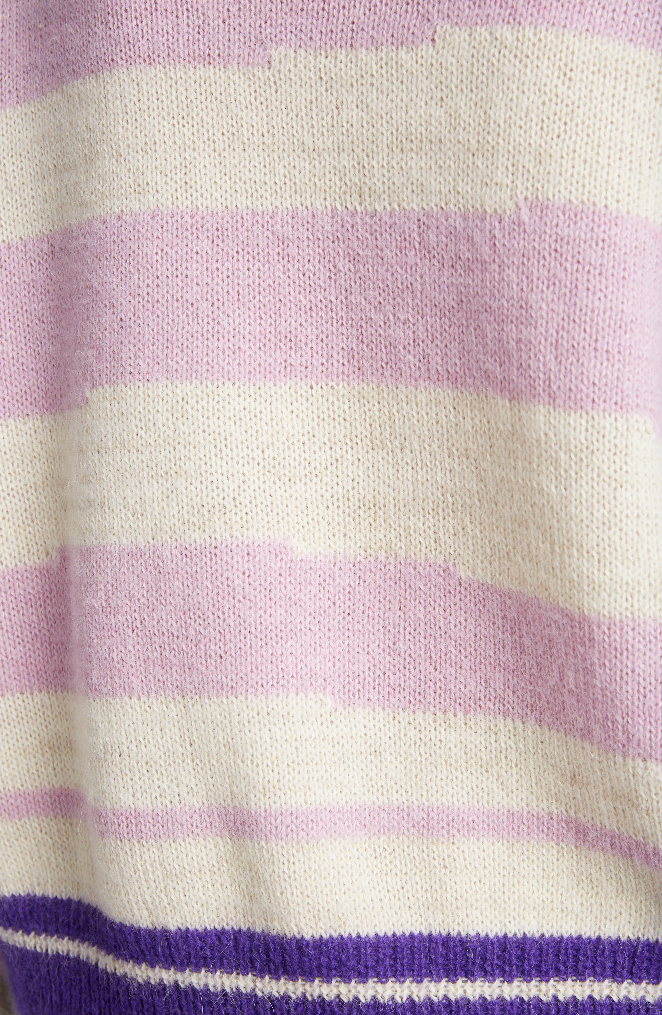 Glowy Stripe Sweater,                             Alternate thumbnail 5, color,                             LILAC