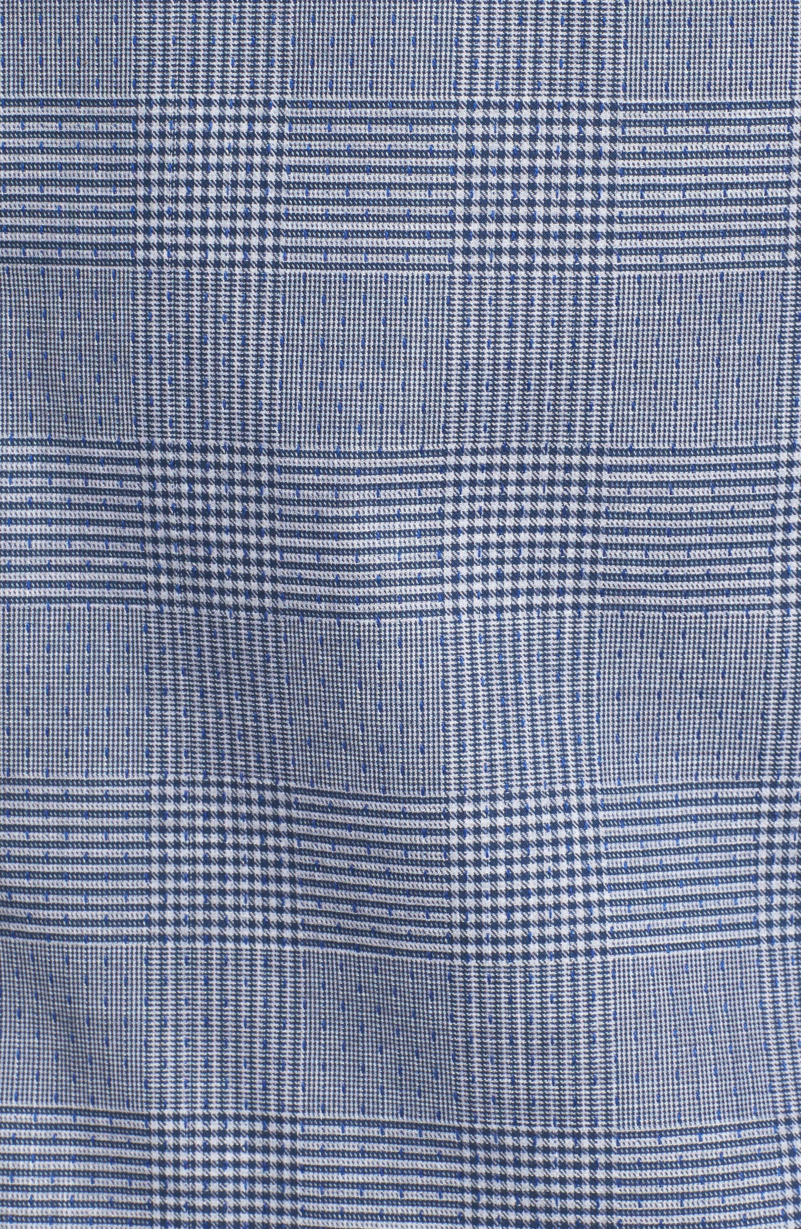 Hacking Slim Fit Glen Plaid Sport Shirt,                             Alternate thumbnail 5, color,                             420