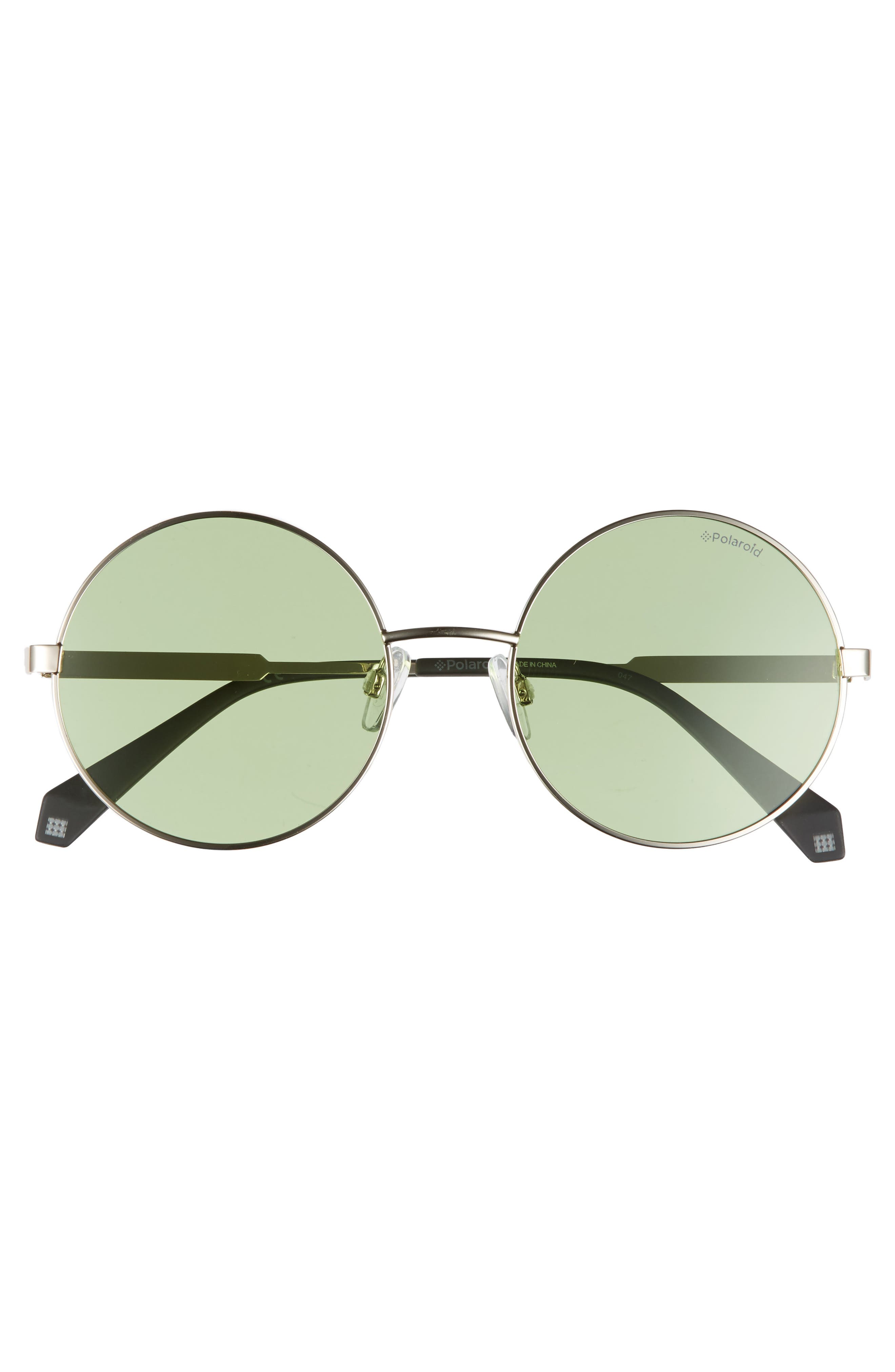 55mm Polarized Round Sunglasses,                             Alternate thumbnail 3, color,                             300