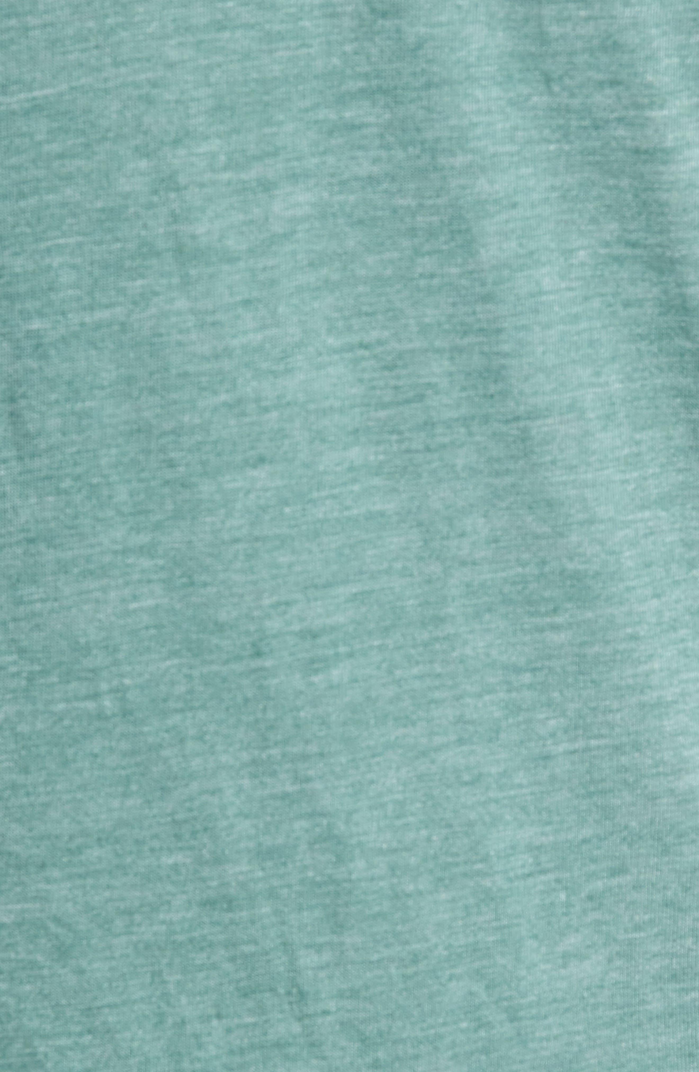 Scallop Triblend Crewneck T-Shirt,                             Alternate thumbnail 5, color,                             PINE