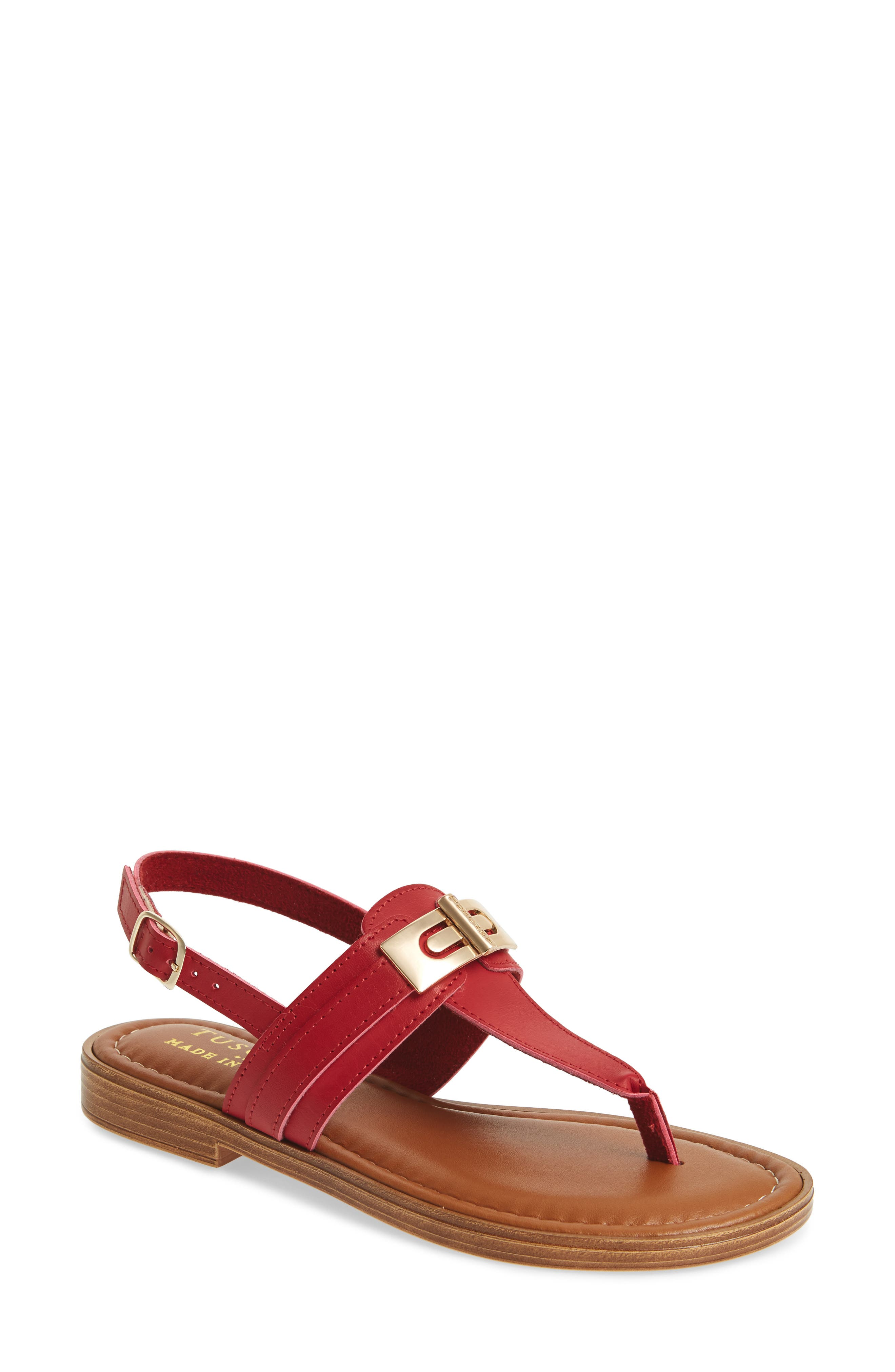 Tuscany By Easy Street Clariss Sandal- Red