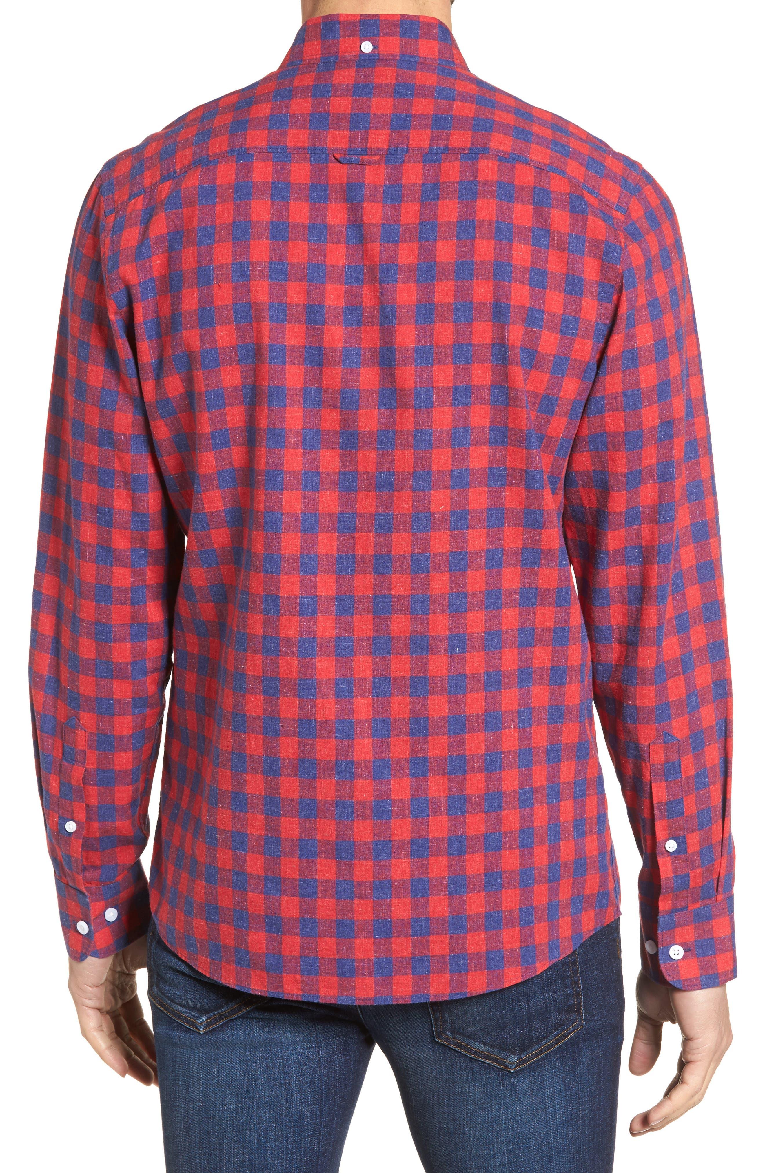 Spade Trim Fit Check Sport Shirt,                             Alternate thumbnail 2, color,                             610
