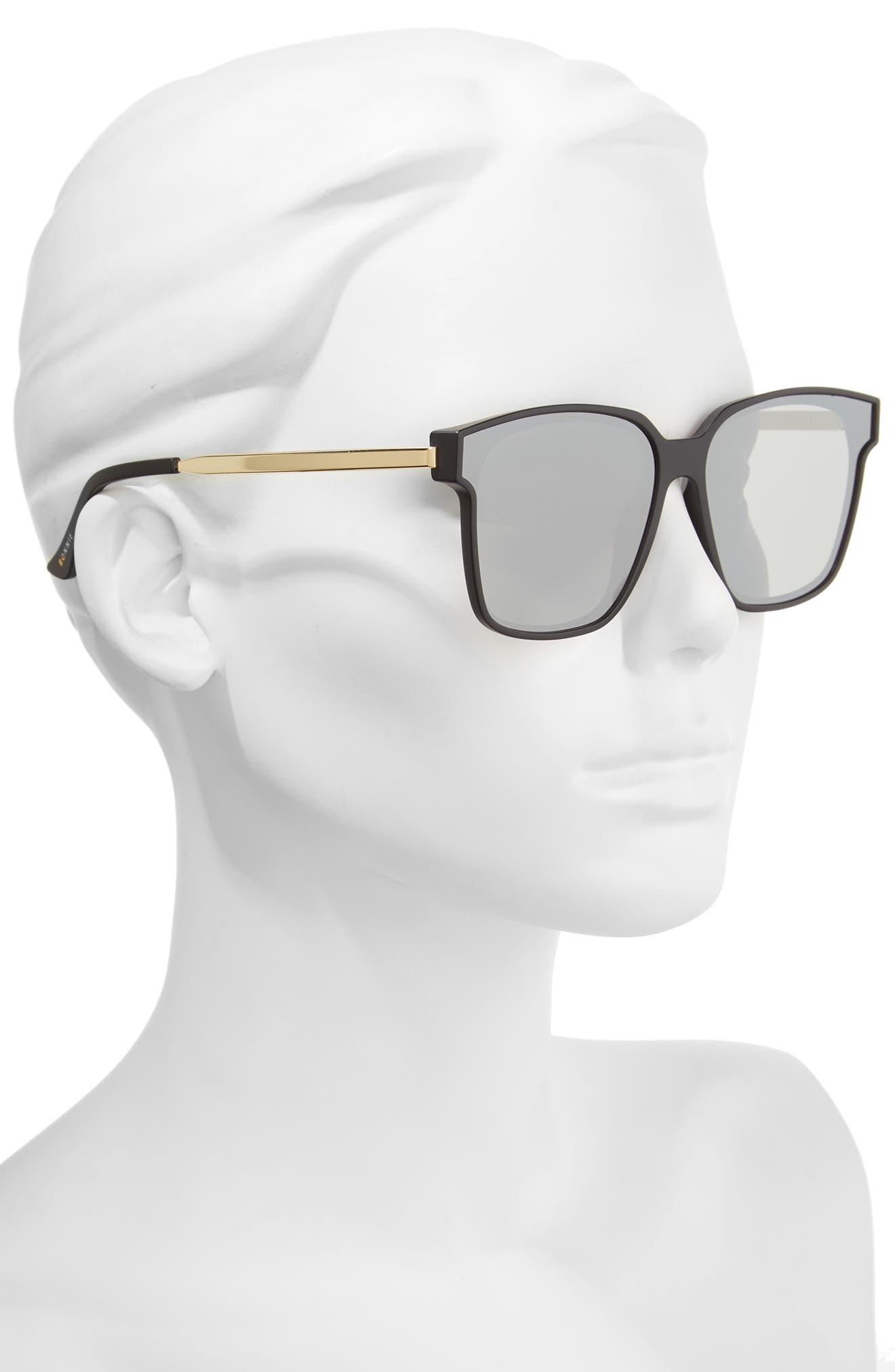 Wall 62mm Square Mirror Lens Sunglasses,                             Alternate thumbnail 5, color,