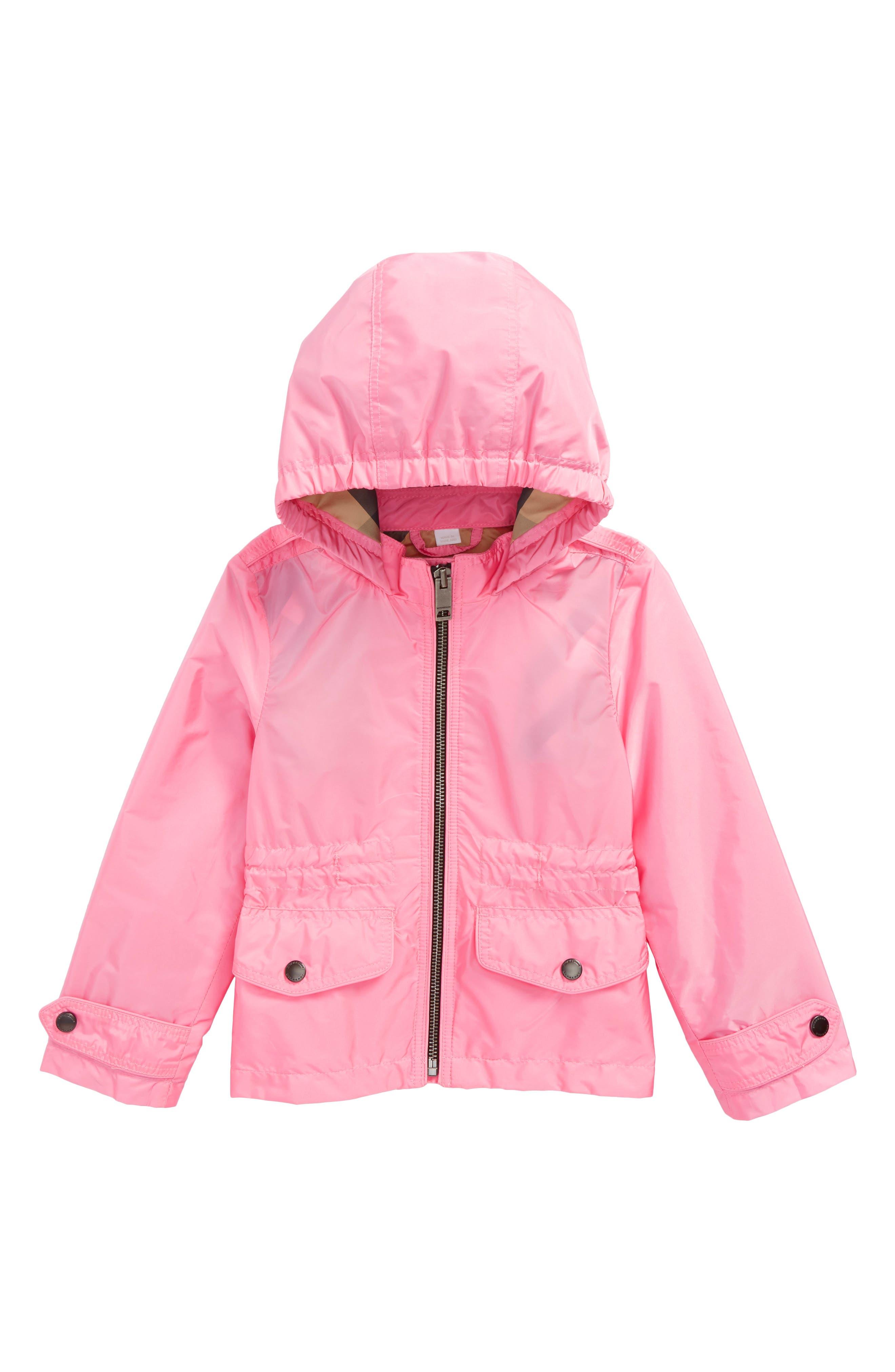 Mini Halle Waterproof Hooded Packaway Jacket,                             Main thumbnail 1, color,                             660
