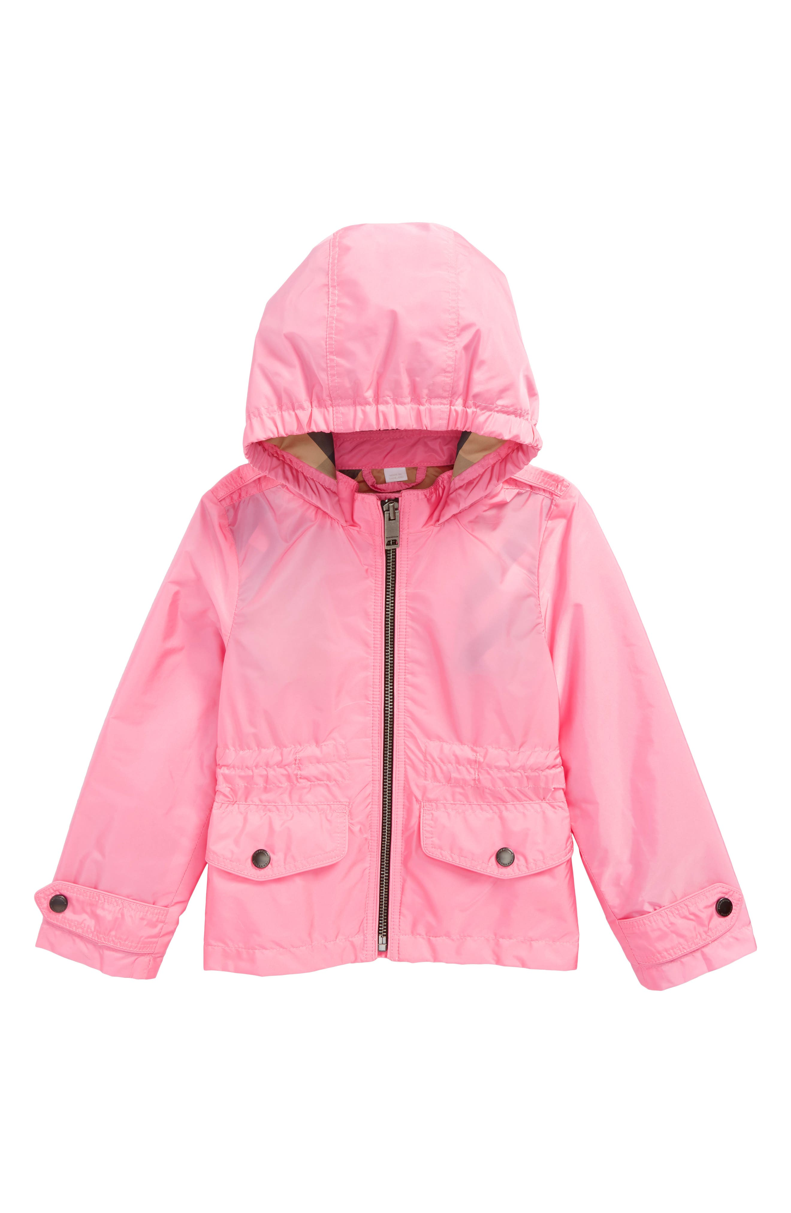 Mini Halle Waterproof Hooded Packaway Jacket,                         Main,                         color, 660