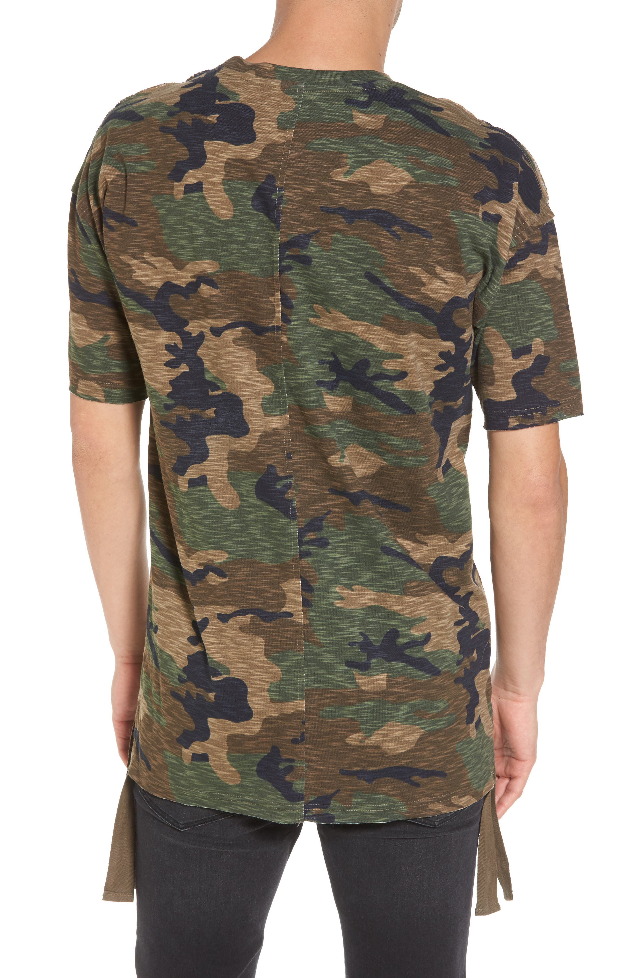 Camo Strapped T-Shirt,                             Alternate thumbnail 2, color,                             210