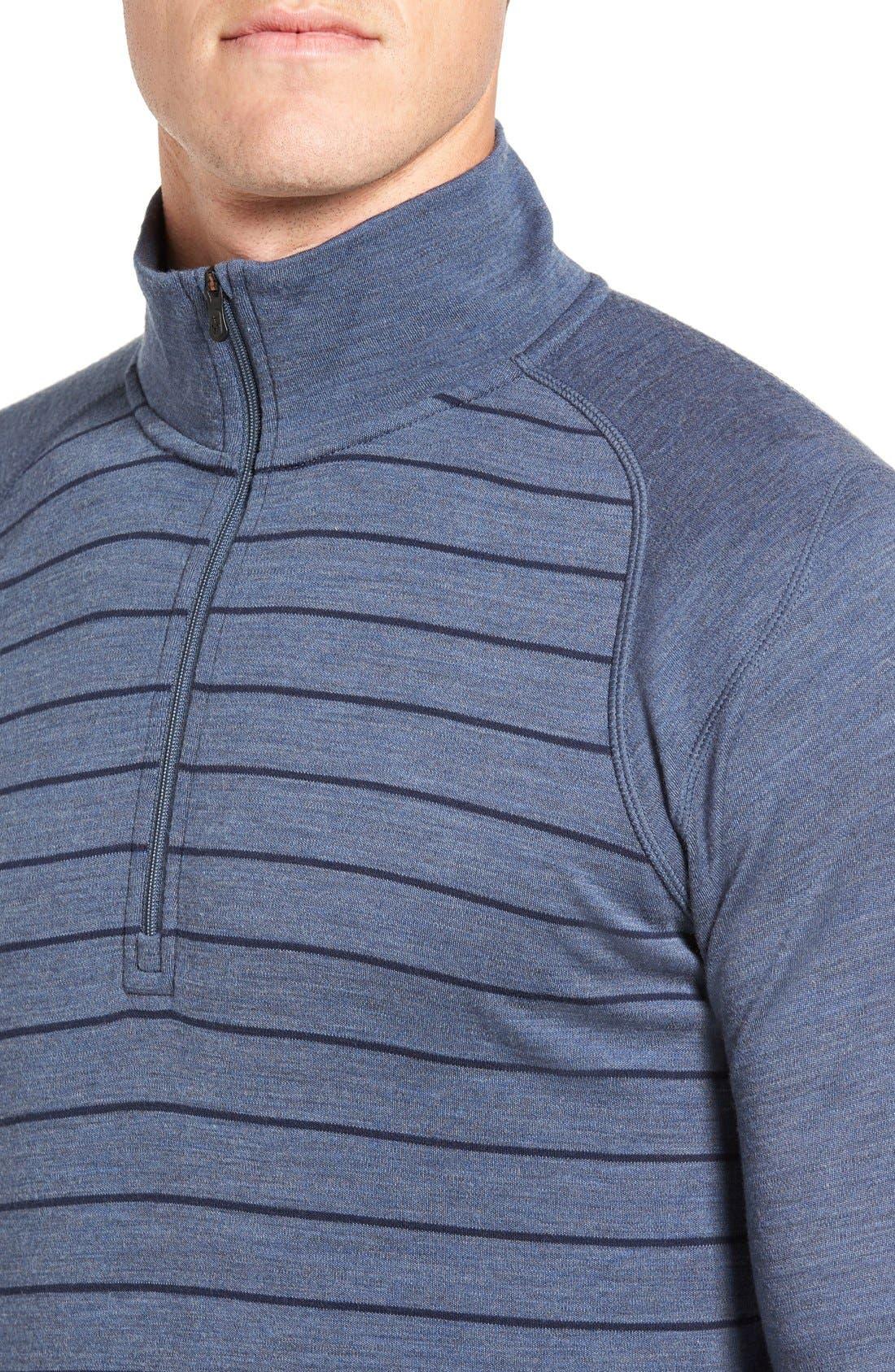 Merino 250 Base Layer Pattern Quarter Zip Pullover,                             Alternate thumbnail 9, color,