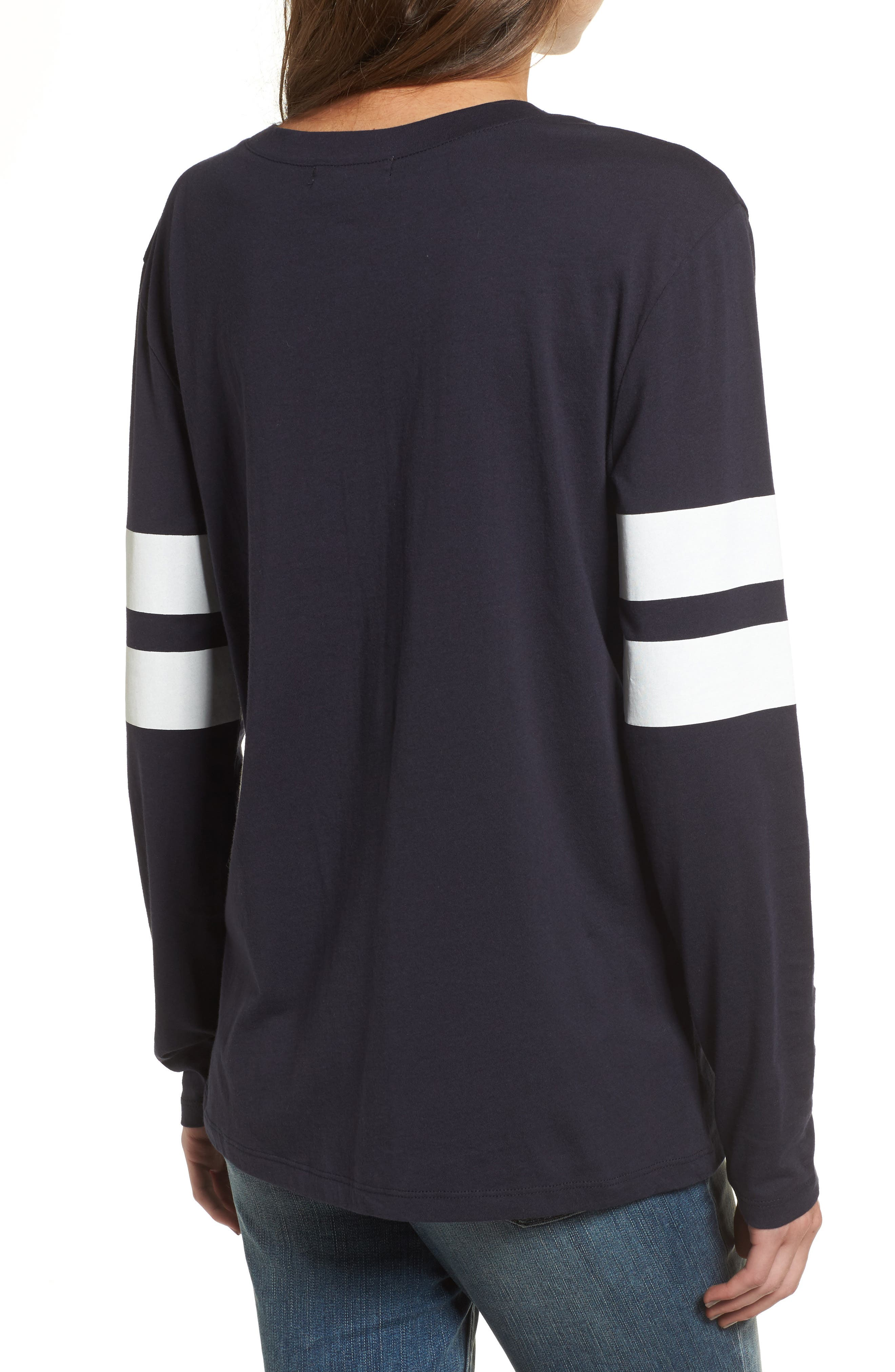 Varsity Stripe Cotton Tee,                             Alternate thumbnail 33, color,