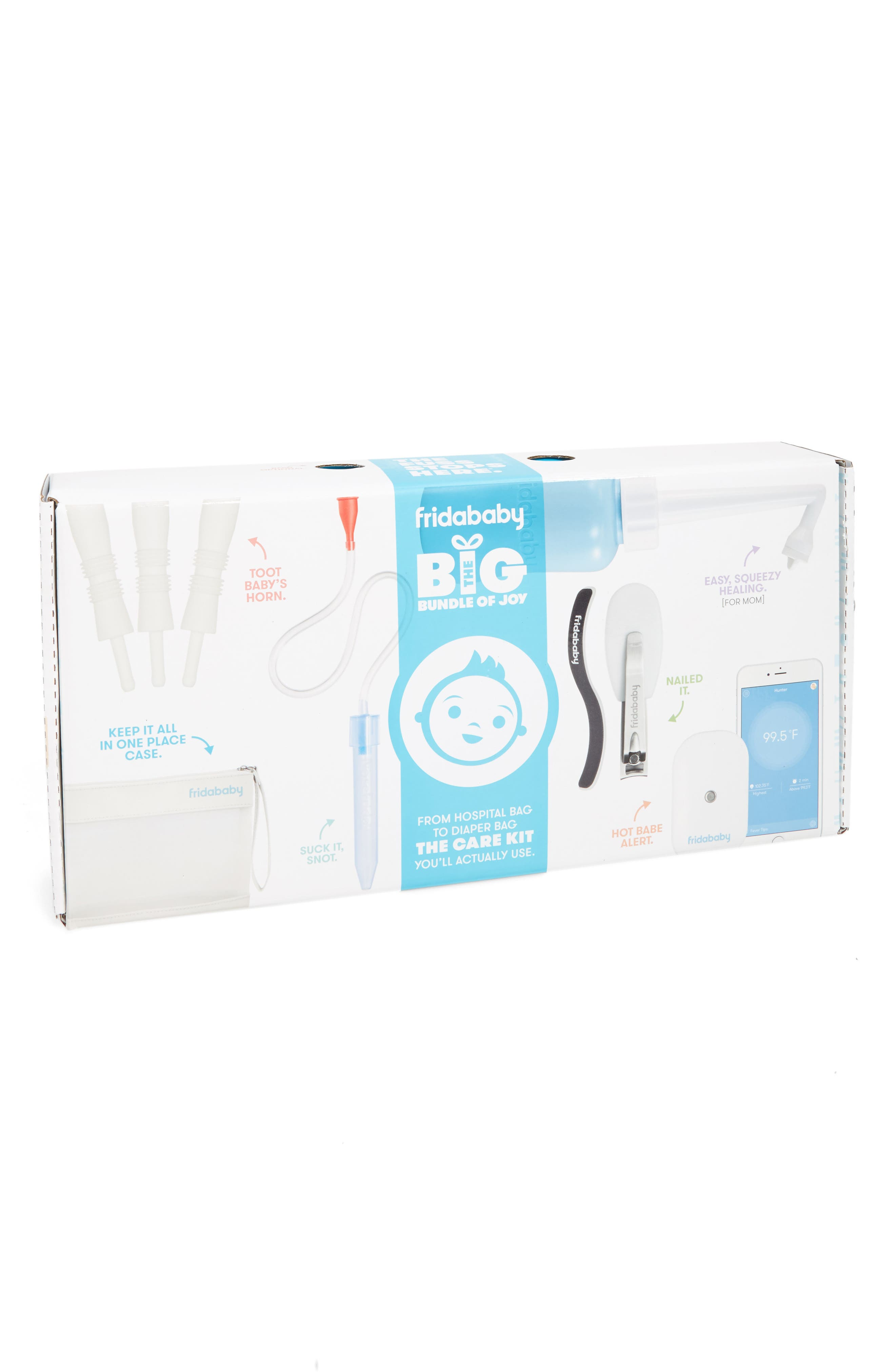 The Big Bundle Of Joy Newborn Care Kit,                             Main thumbnail 1, color,                             WHITE