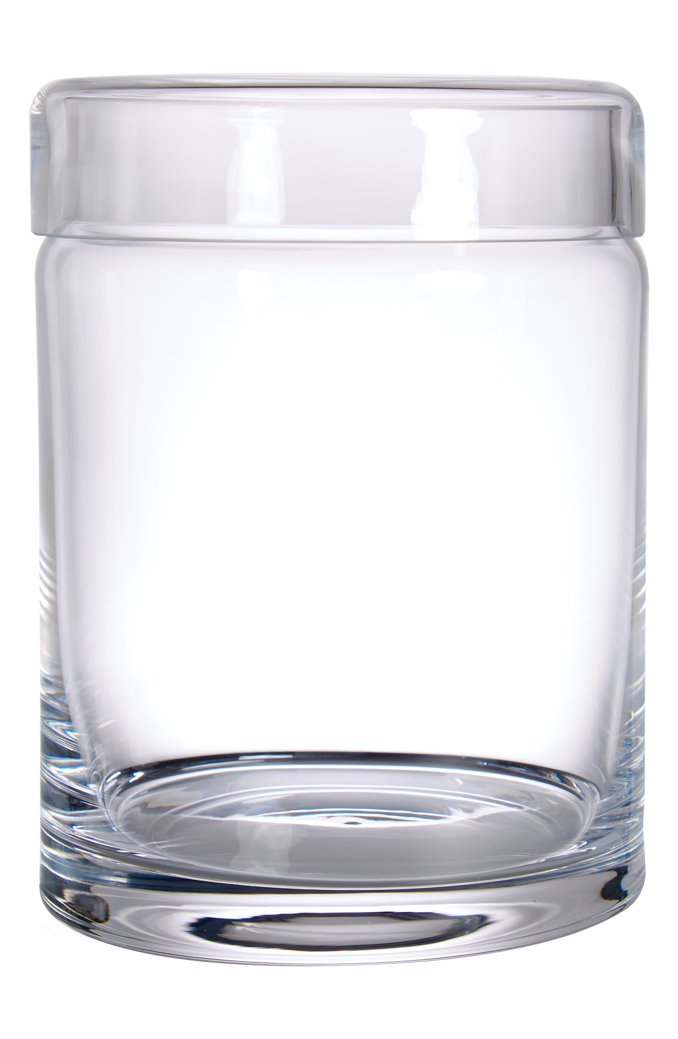 Large Glass Storage Jar, Main, color, CLEAR