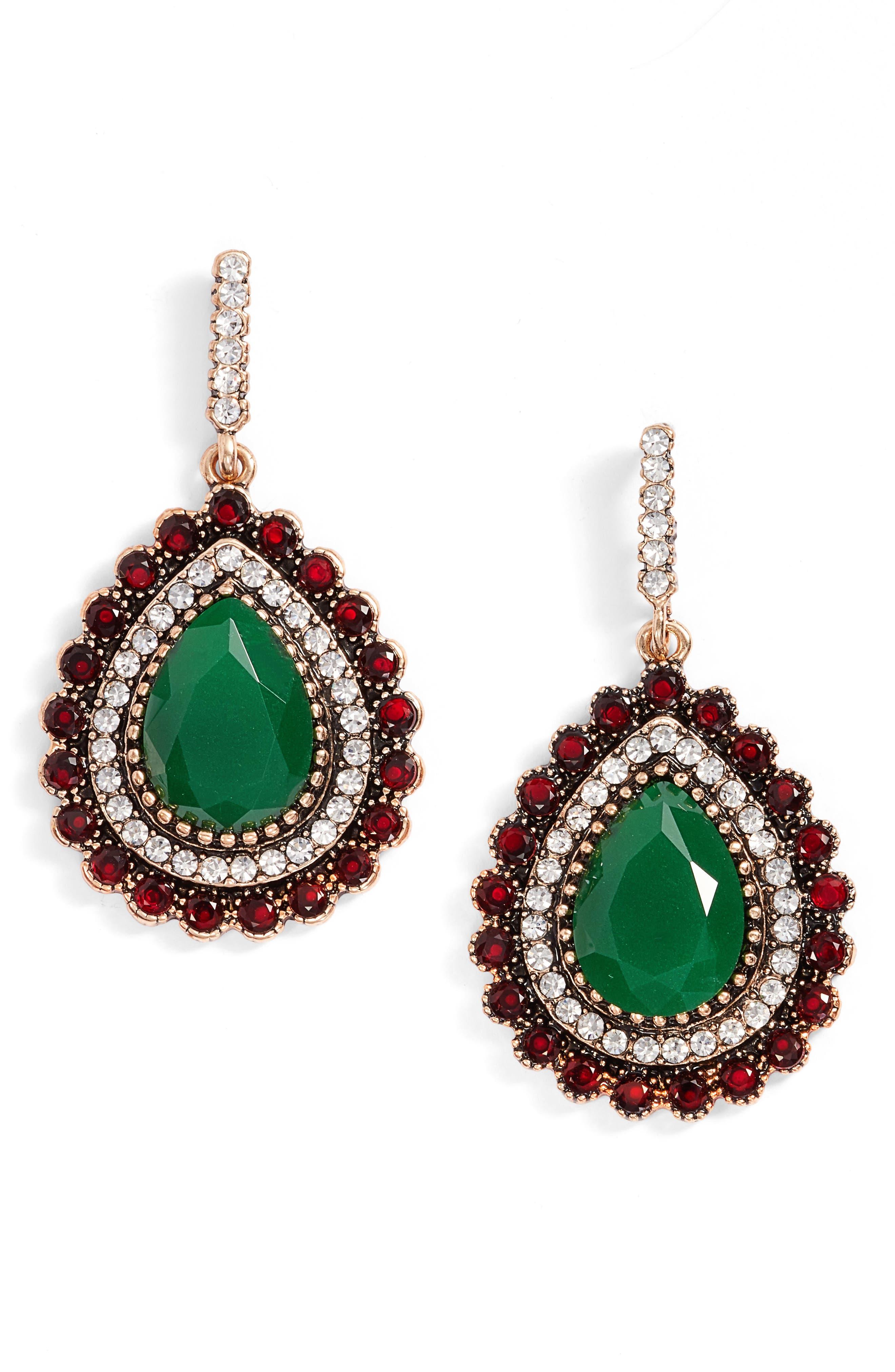 Lily Teardrop Earrings,                         Main,                         color, 300
