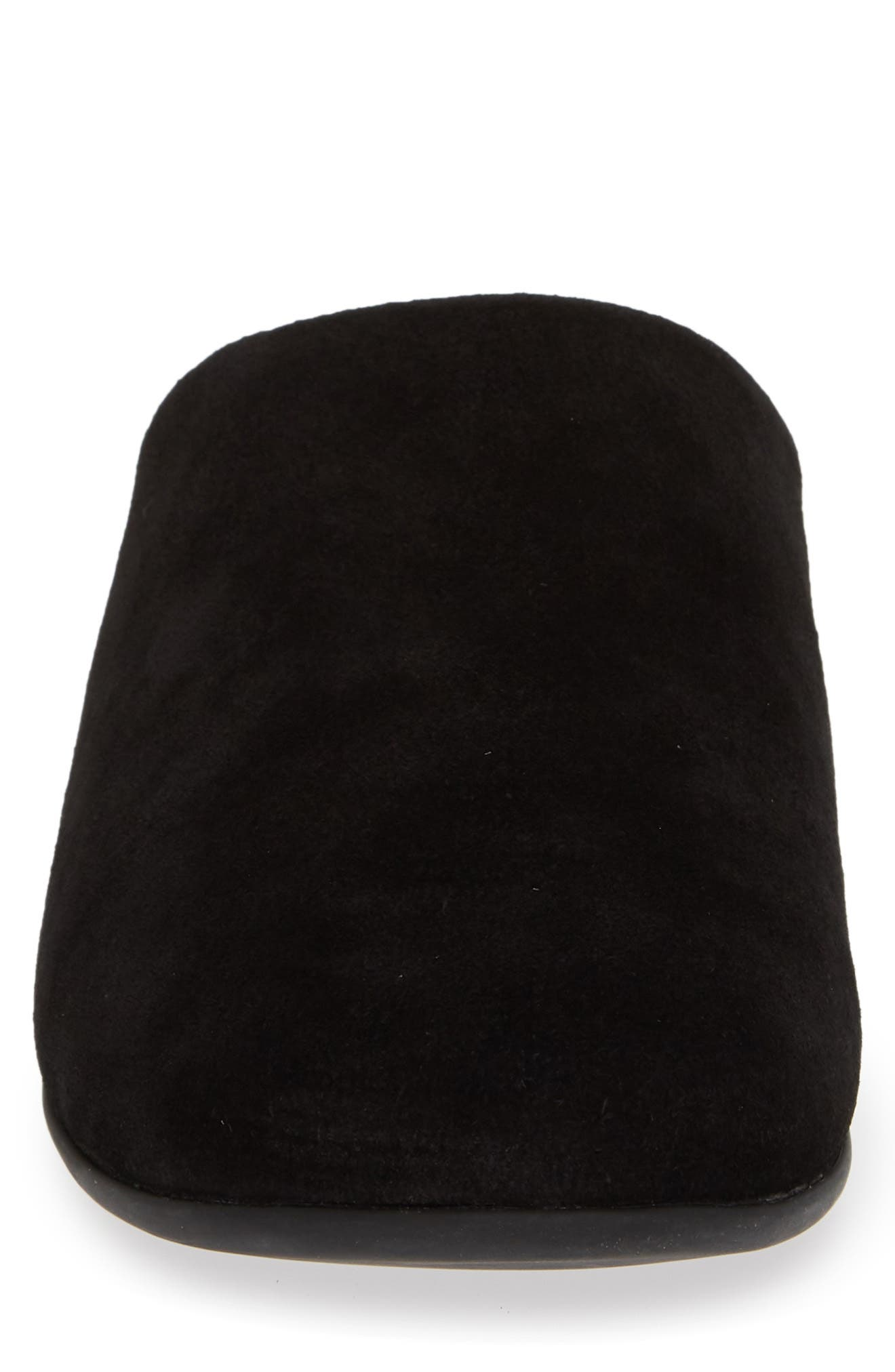 Mule Slipper,                             Alternate thumbnail 4, color,                             ALL BLACK NUBUCK