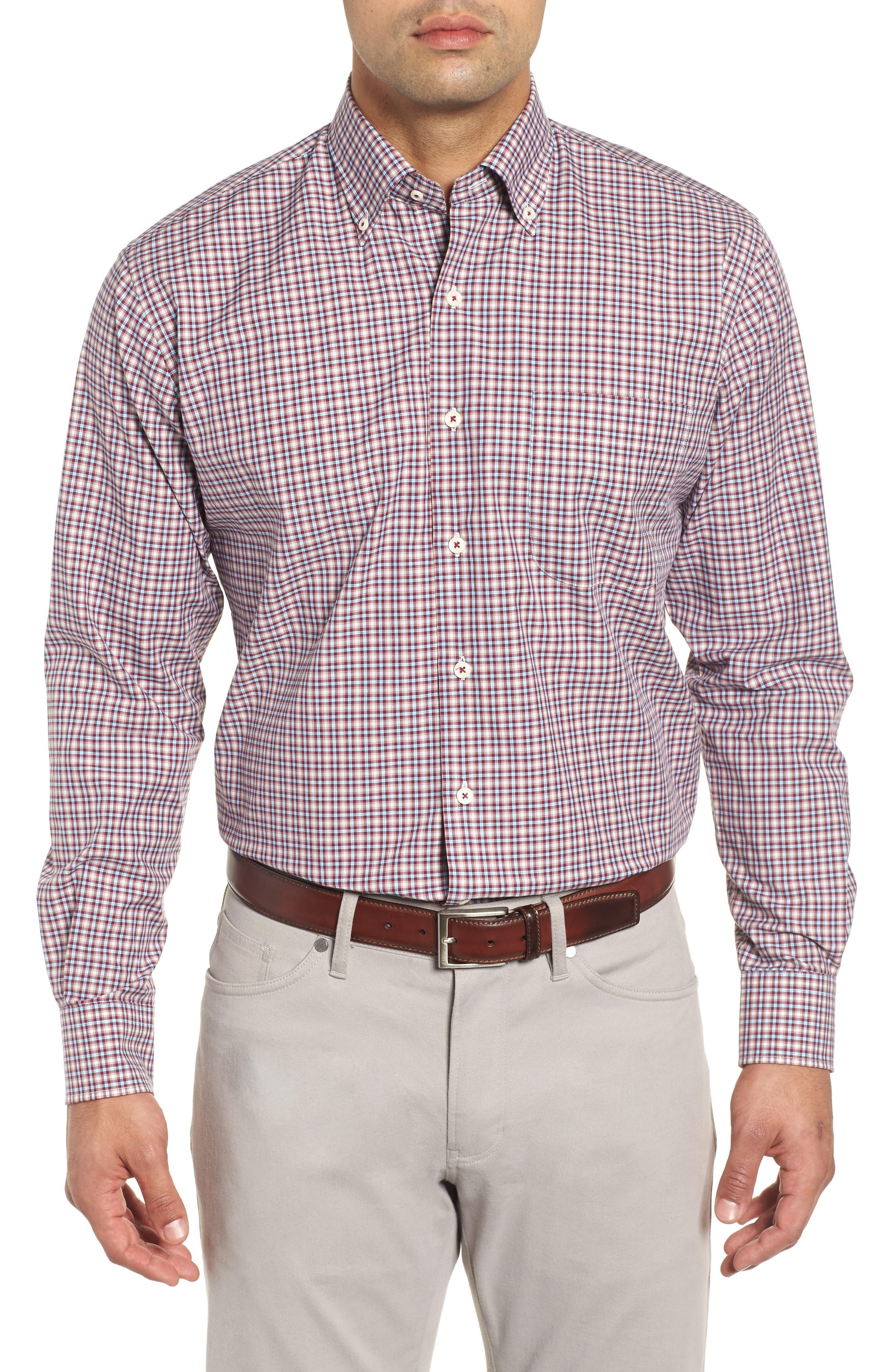 Albertville Check Sport Shirt,                         Main,                         color, WINTERBERRY