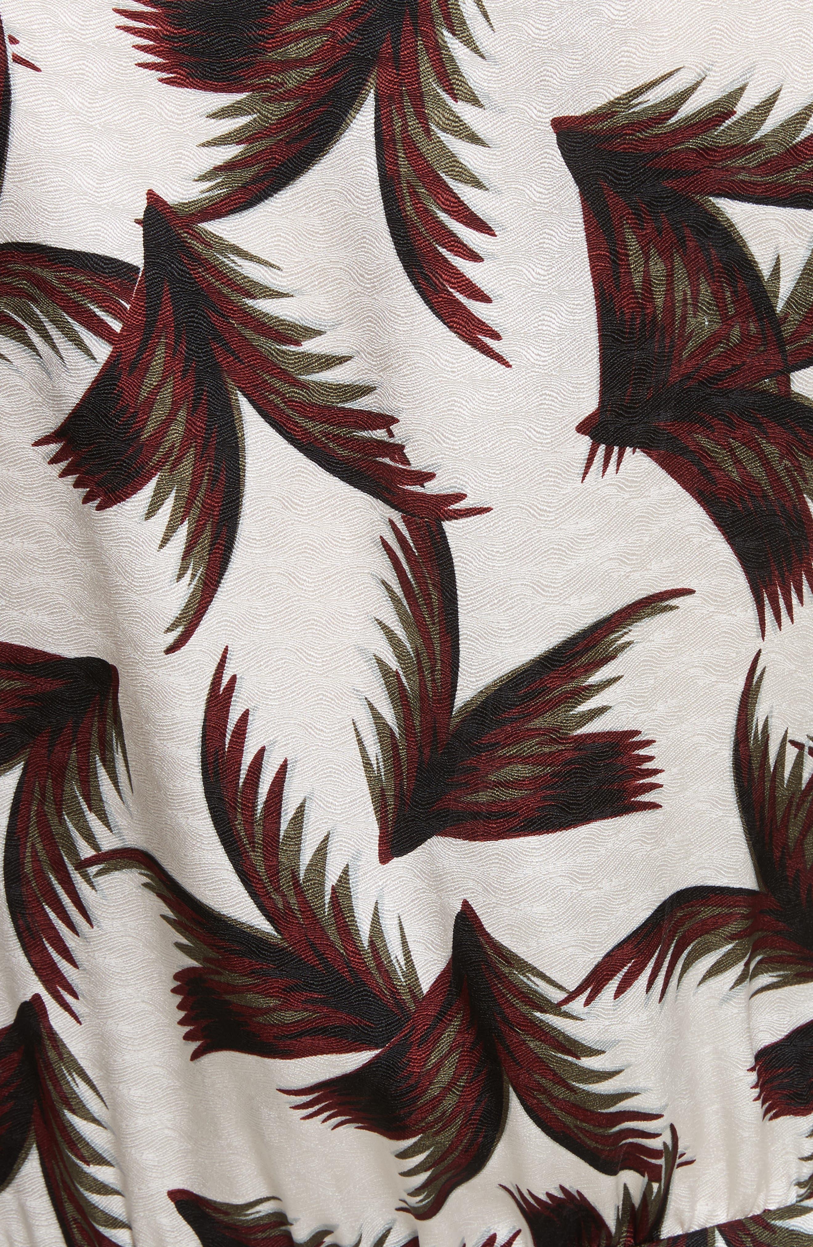 Freja Knotted Silk Dress,                             Alternate thumbnail 5, color,                             110