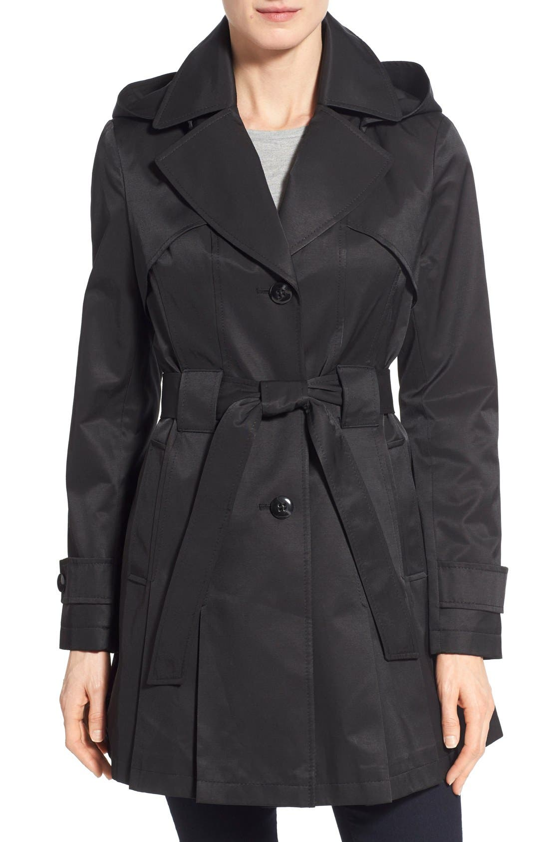'Scarpa' Hooded Single Breasted Trench Coat,                             Main thumbnail 3, color,