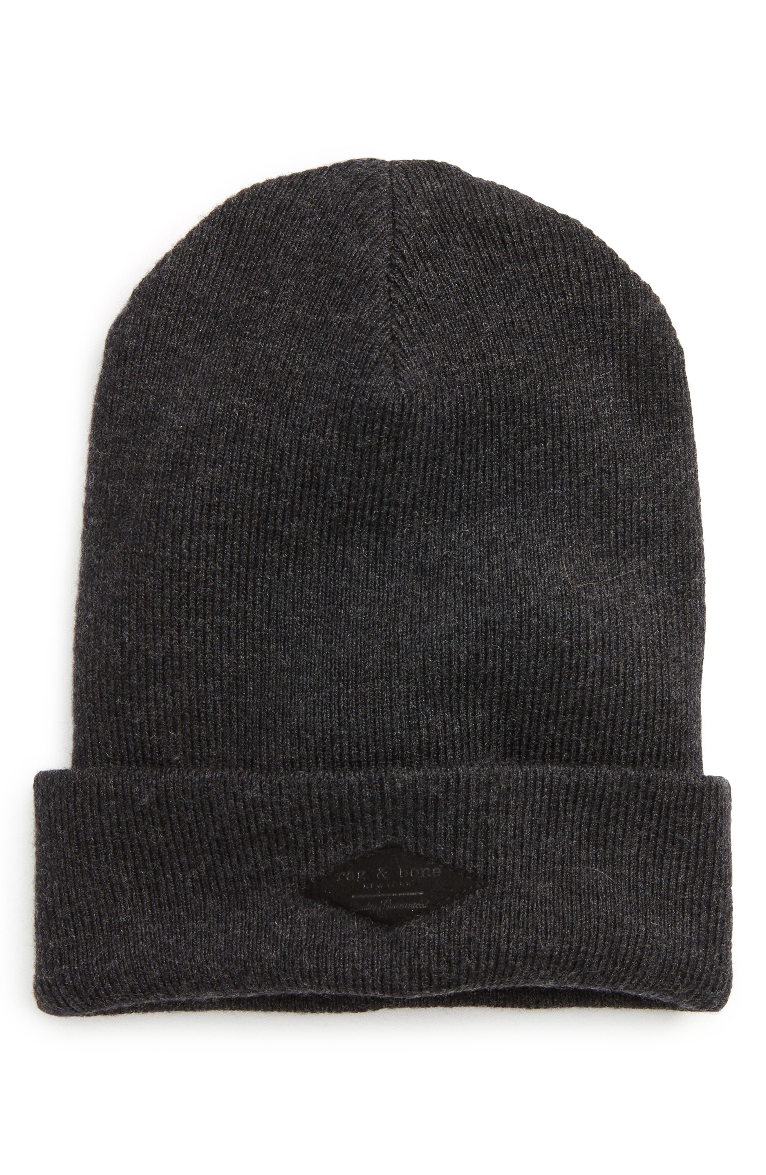 Addison Stretch Merino Wool Knit Cap,                             Main thumbnail 1, color,                             010