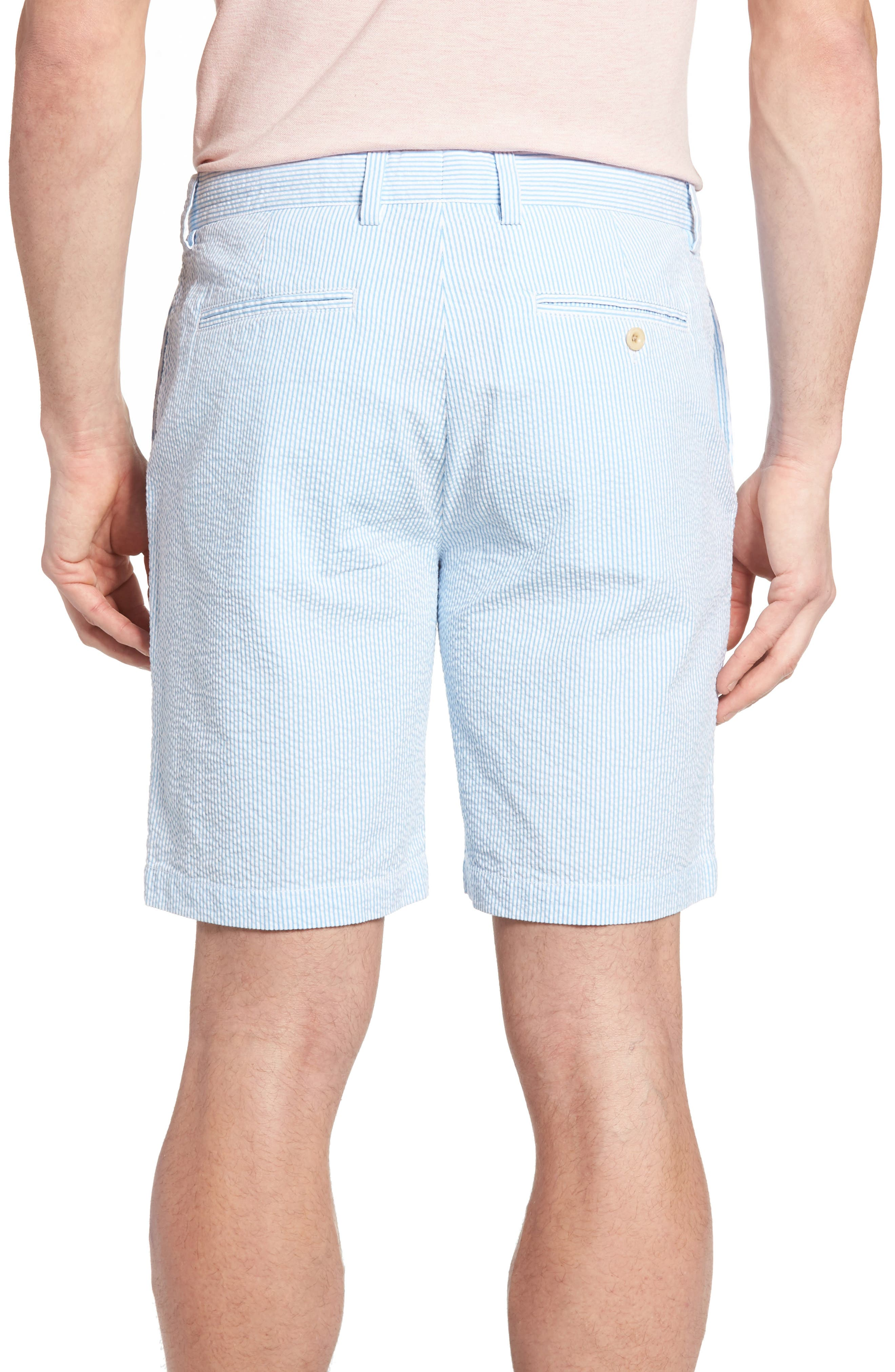 9 Inch Seersucker Shorts,                             Alternate thumbnail 3, color,