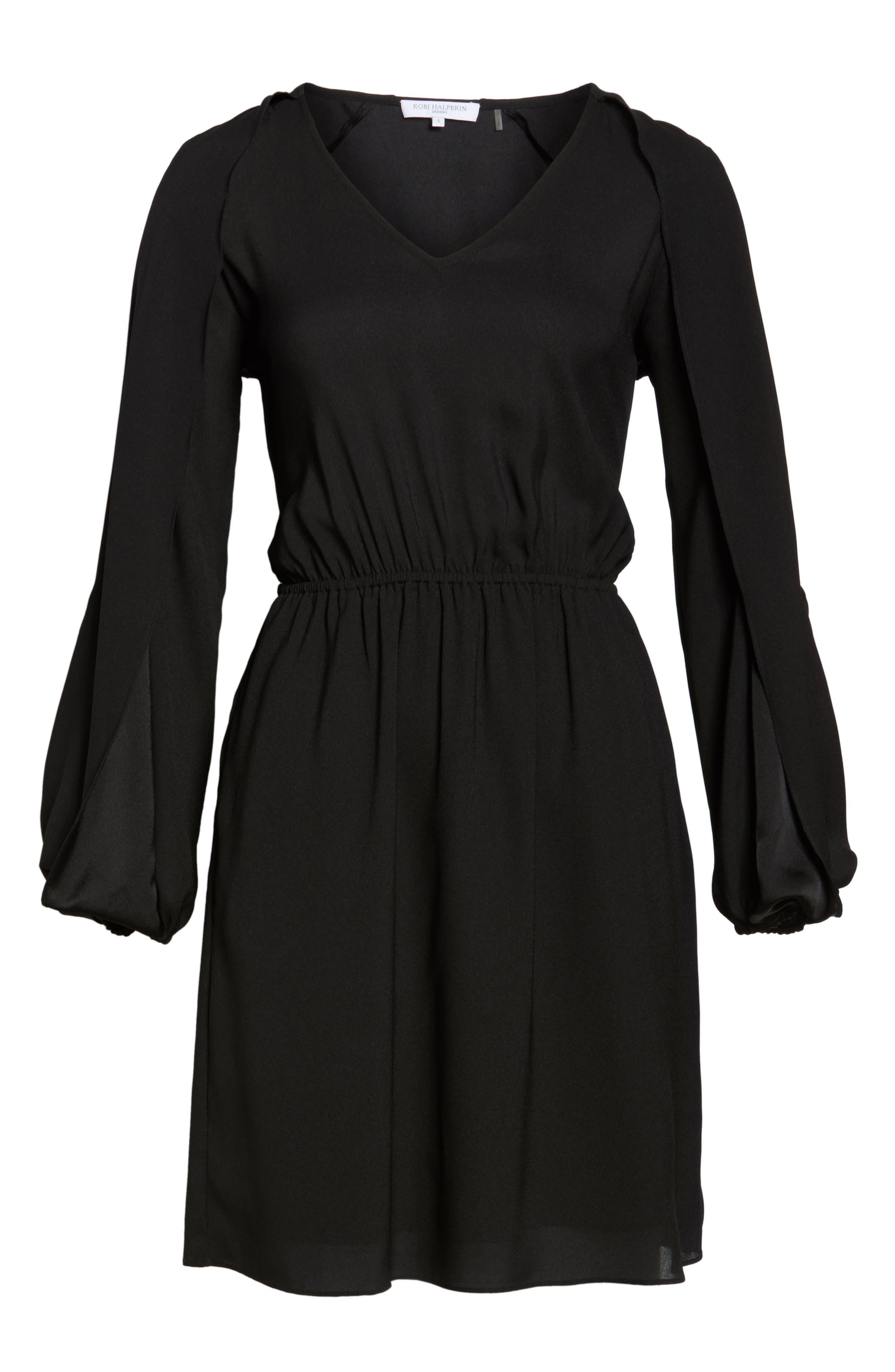 Cold Shoulder Dress,                             Alternate thumbnail 6, color,                             001