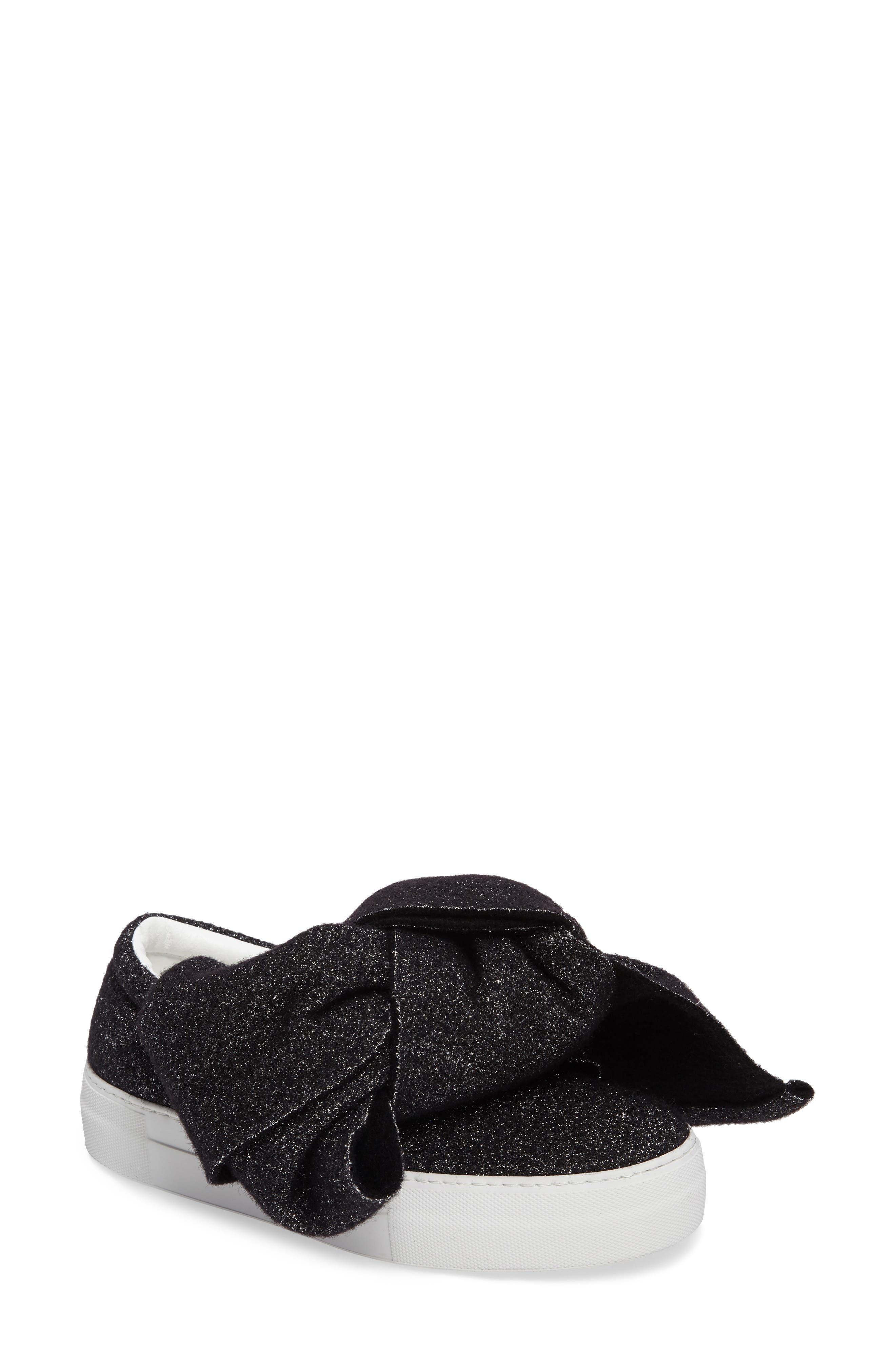 Bow Slip-On Sneaker,                             Main thumbnail 1, color,                             001