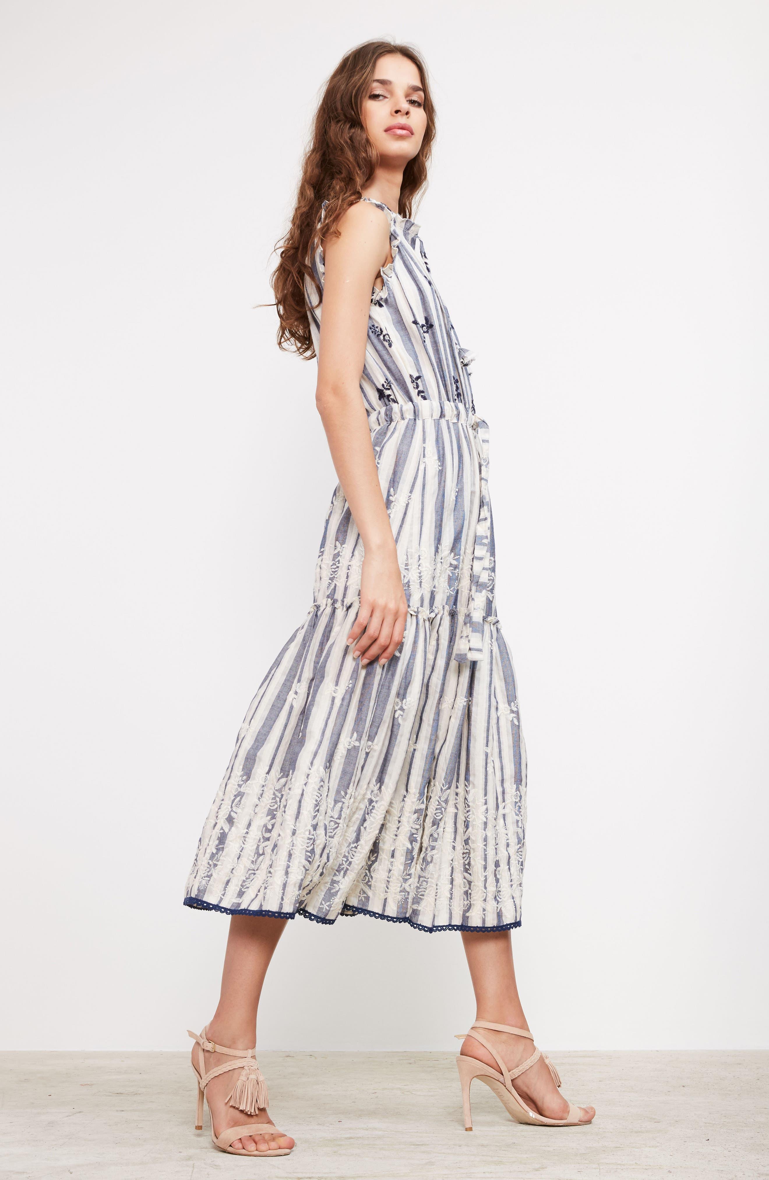 Martina Midi Dress,                             Alternate thumbnail 7, color,                             192