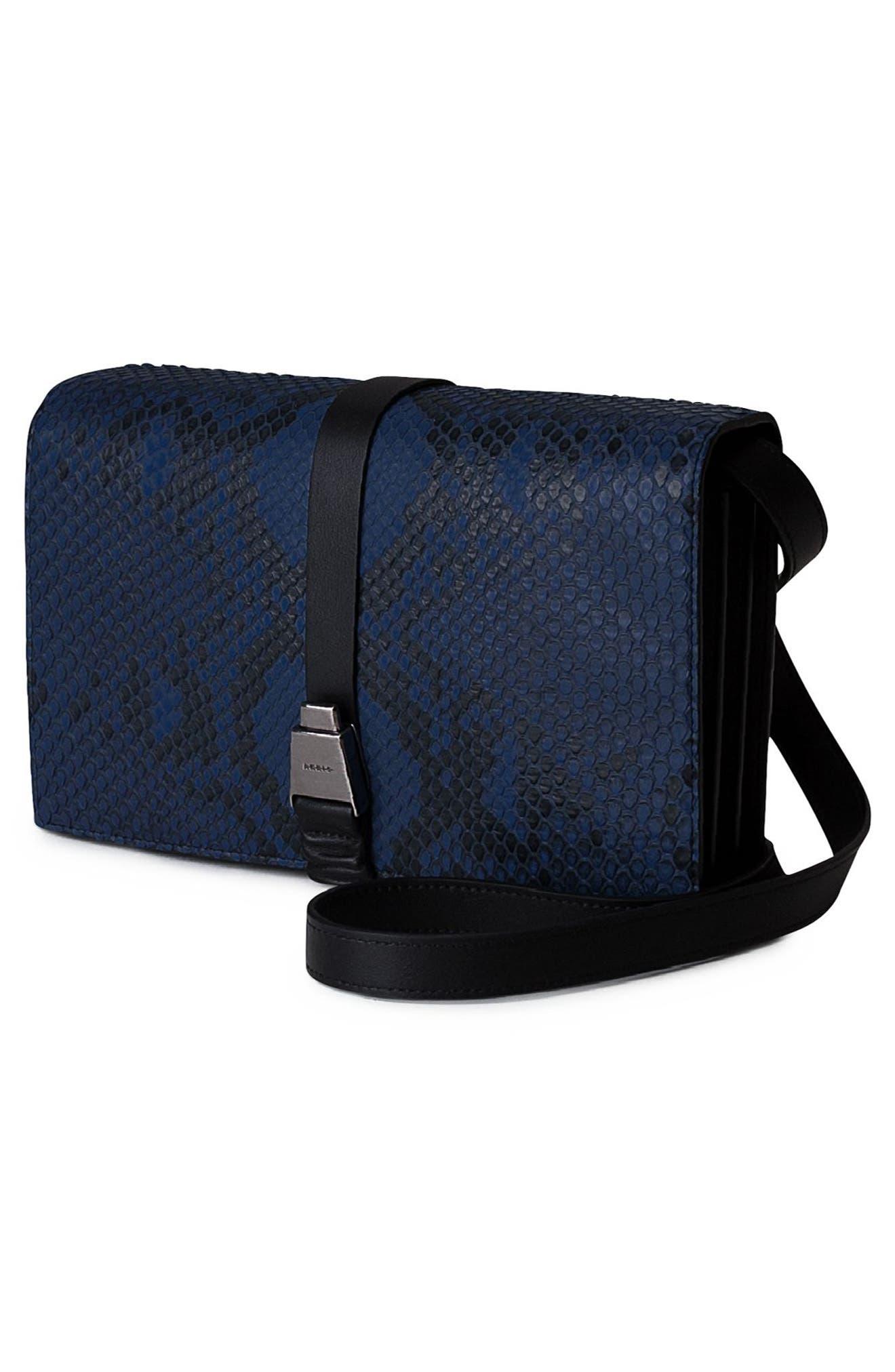 Alice Genuine Python Crossbody Bag,                             Alternate thumbnail 6, color,