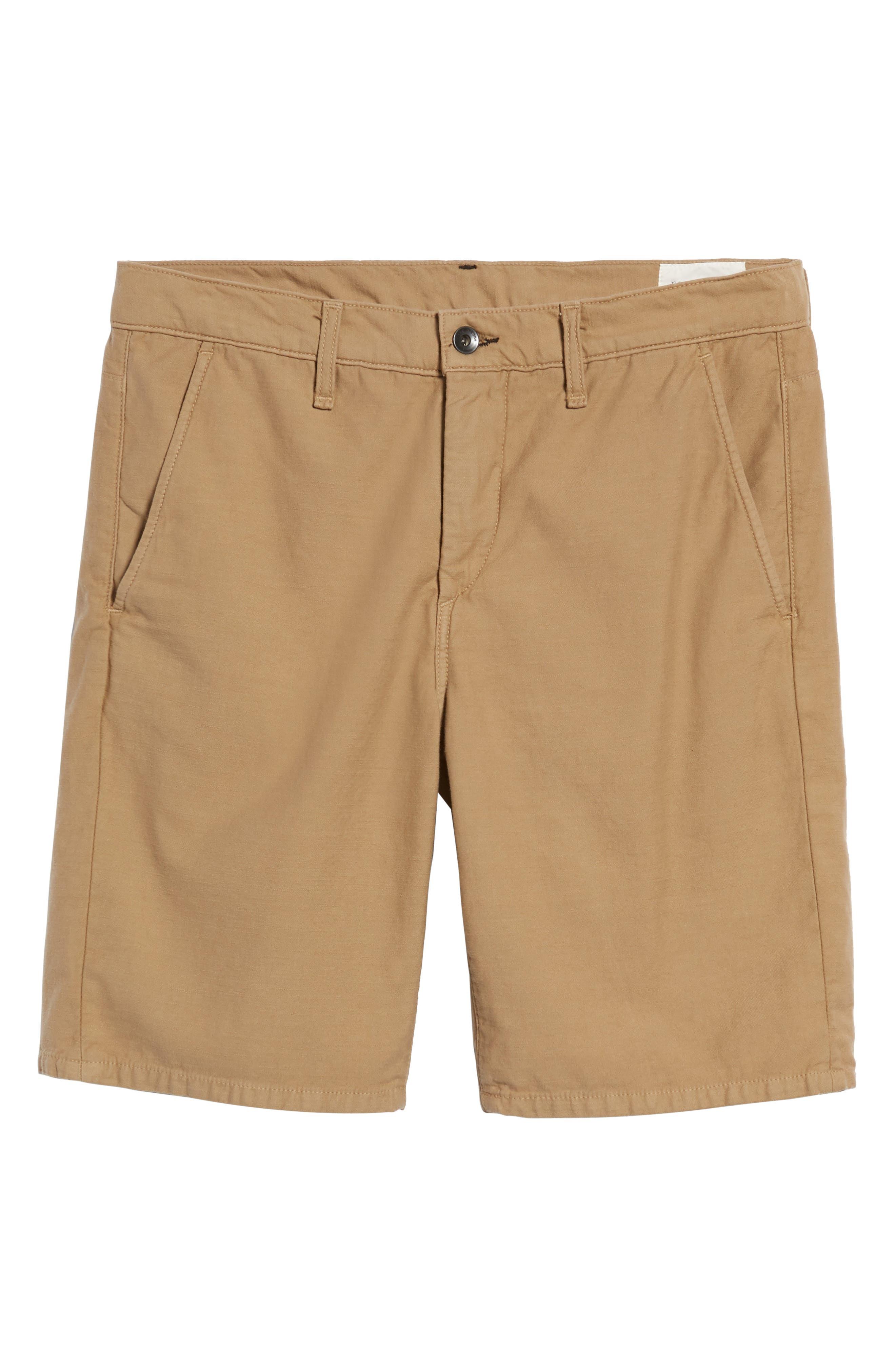 Straight Leg Chino Shorts,                             Alternate thumbnail 6, color,                             KHAKI