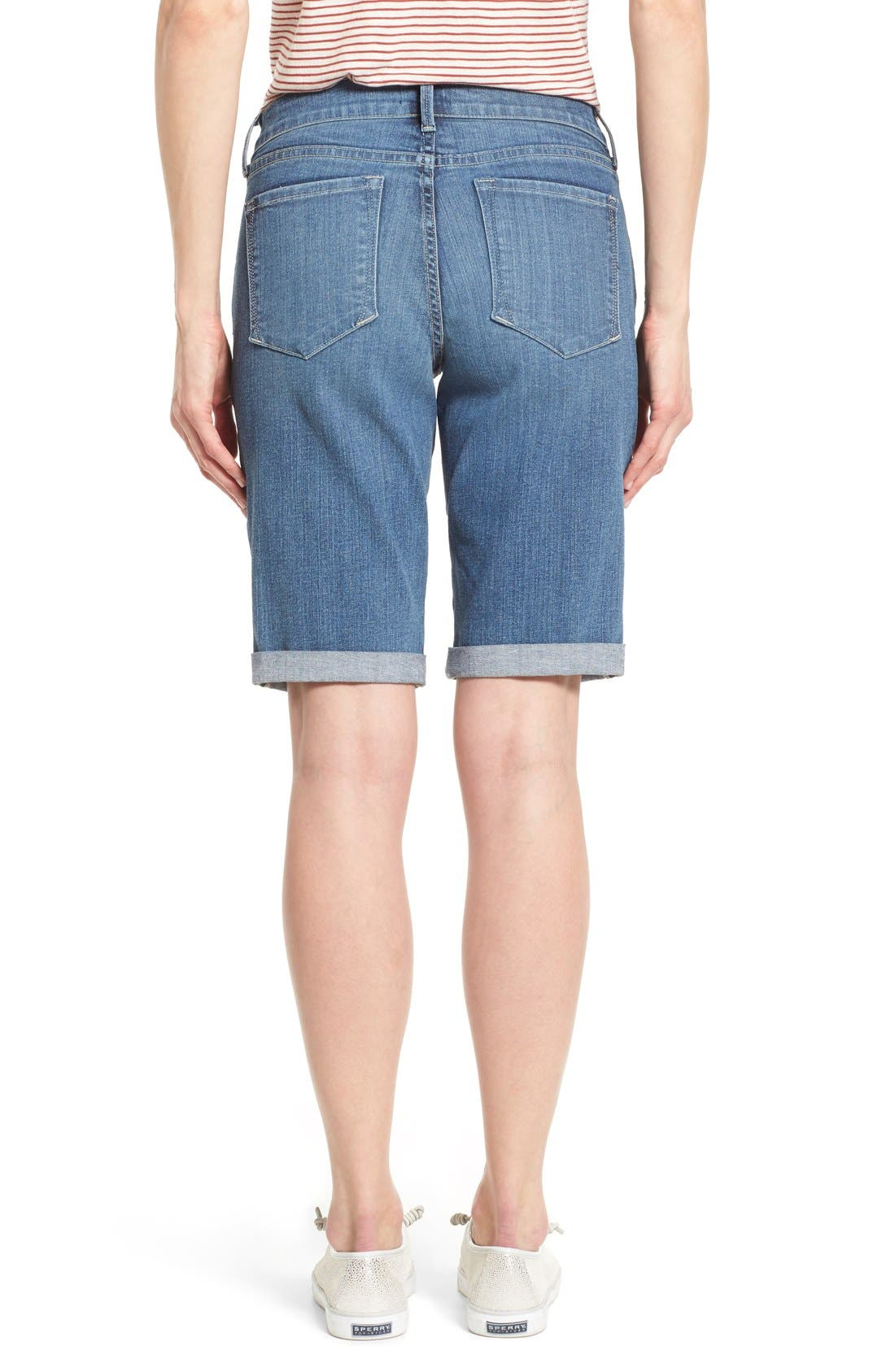 Briella Roll Cuff Stretch Denim Shorts,                             Alternate thumbnail 5, color,