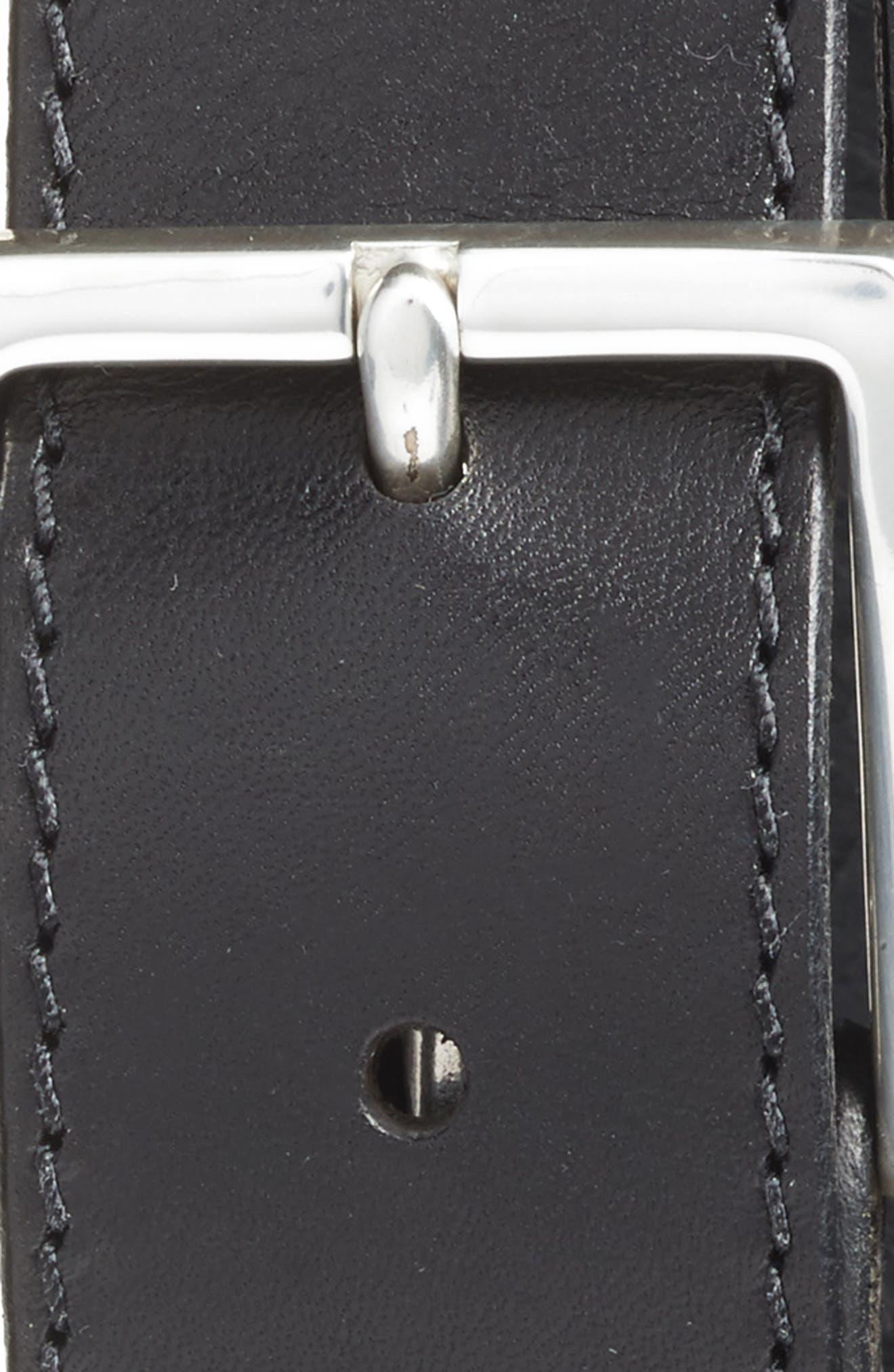 The Franco Leather Belt,                             Alternate thumbnail 2, color,                             BLACK