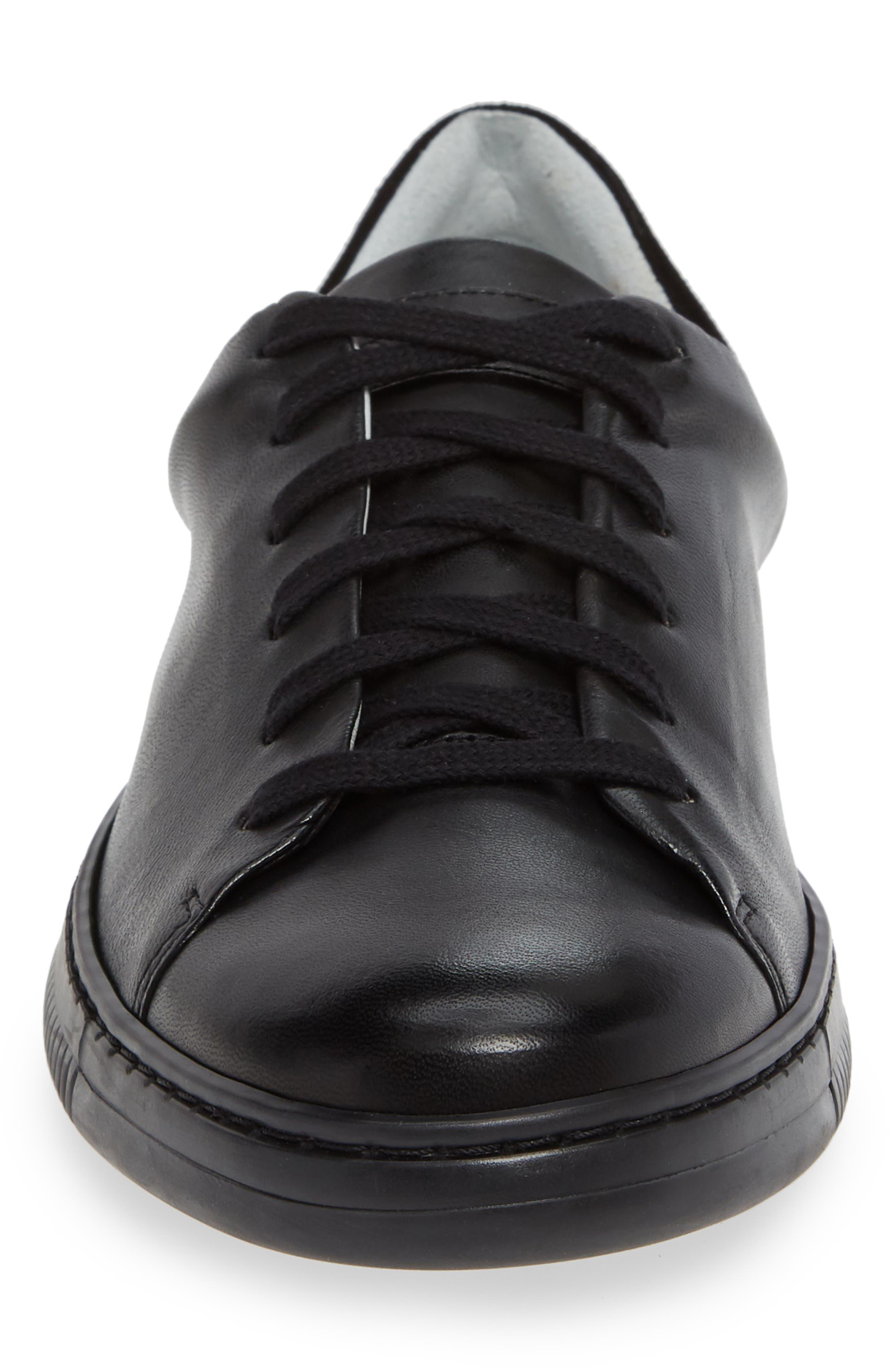 VINCE CAMUTO,                             Jito Sneaker,                             Alternate thumbnail 4, color,                             BLACK LEATHER