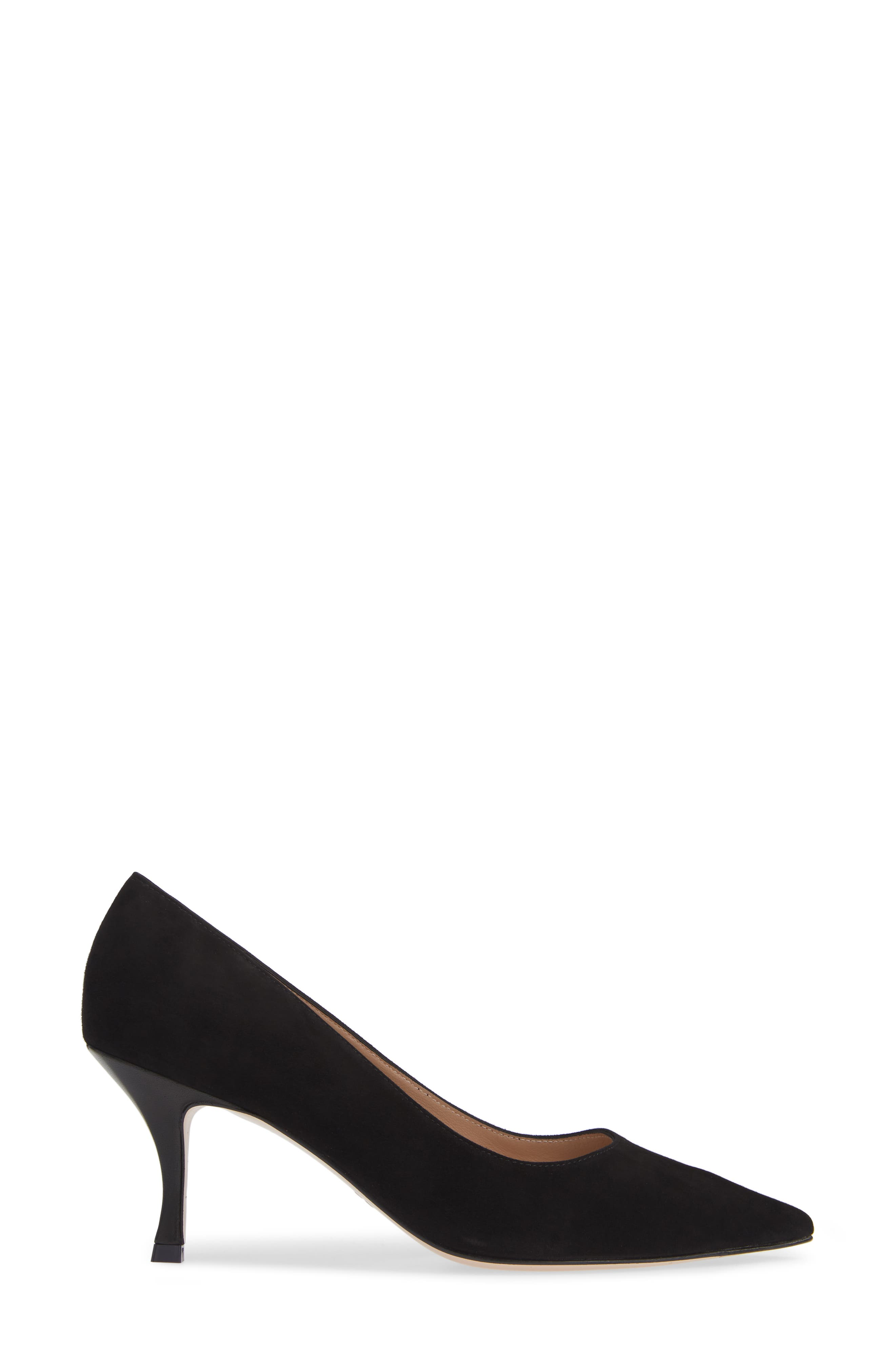 Tippi 70 Pointy Toe Pump,                             Alternate thumbnail 3, color,                             PITCH BLACK