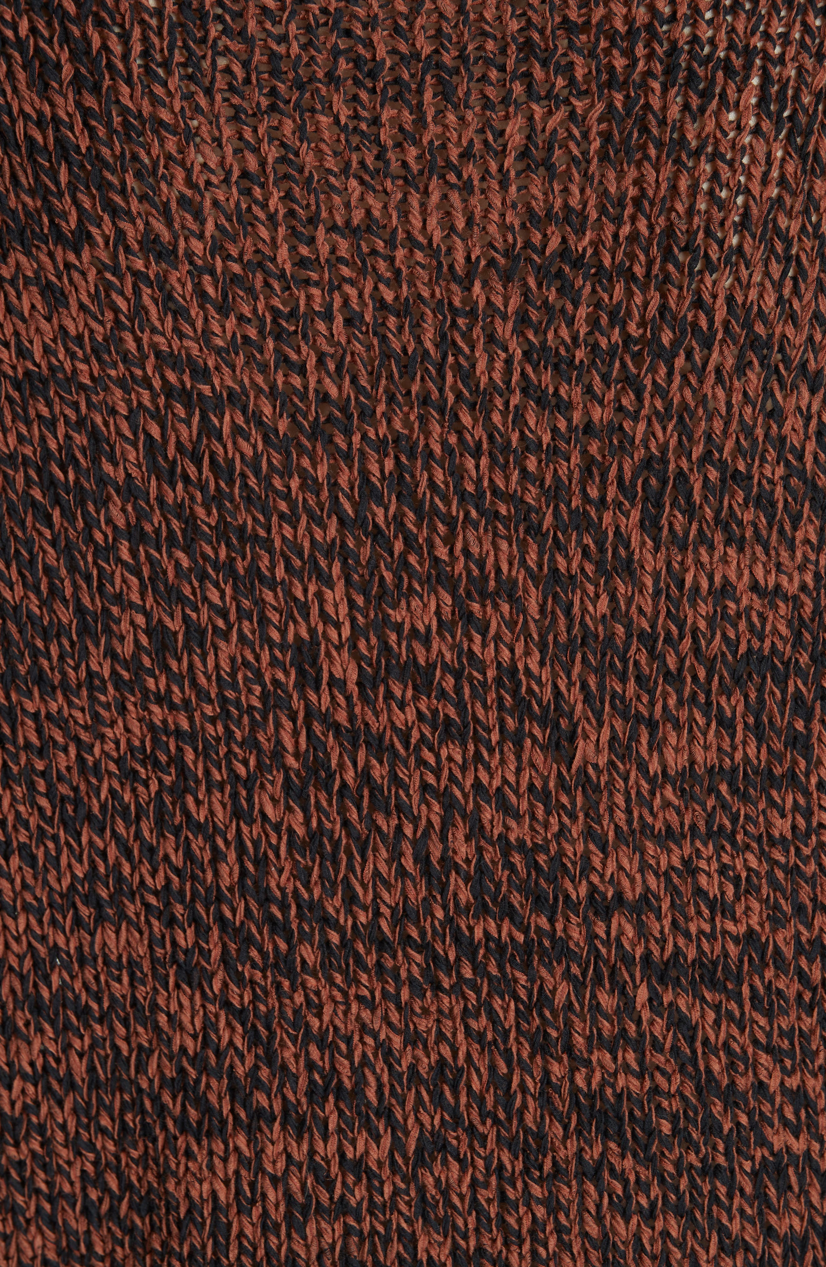 Marled Organic Cotton Blend Sweater,                             Alternate thumbnail 5, color,                             NUTMEG