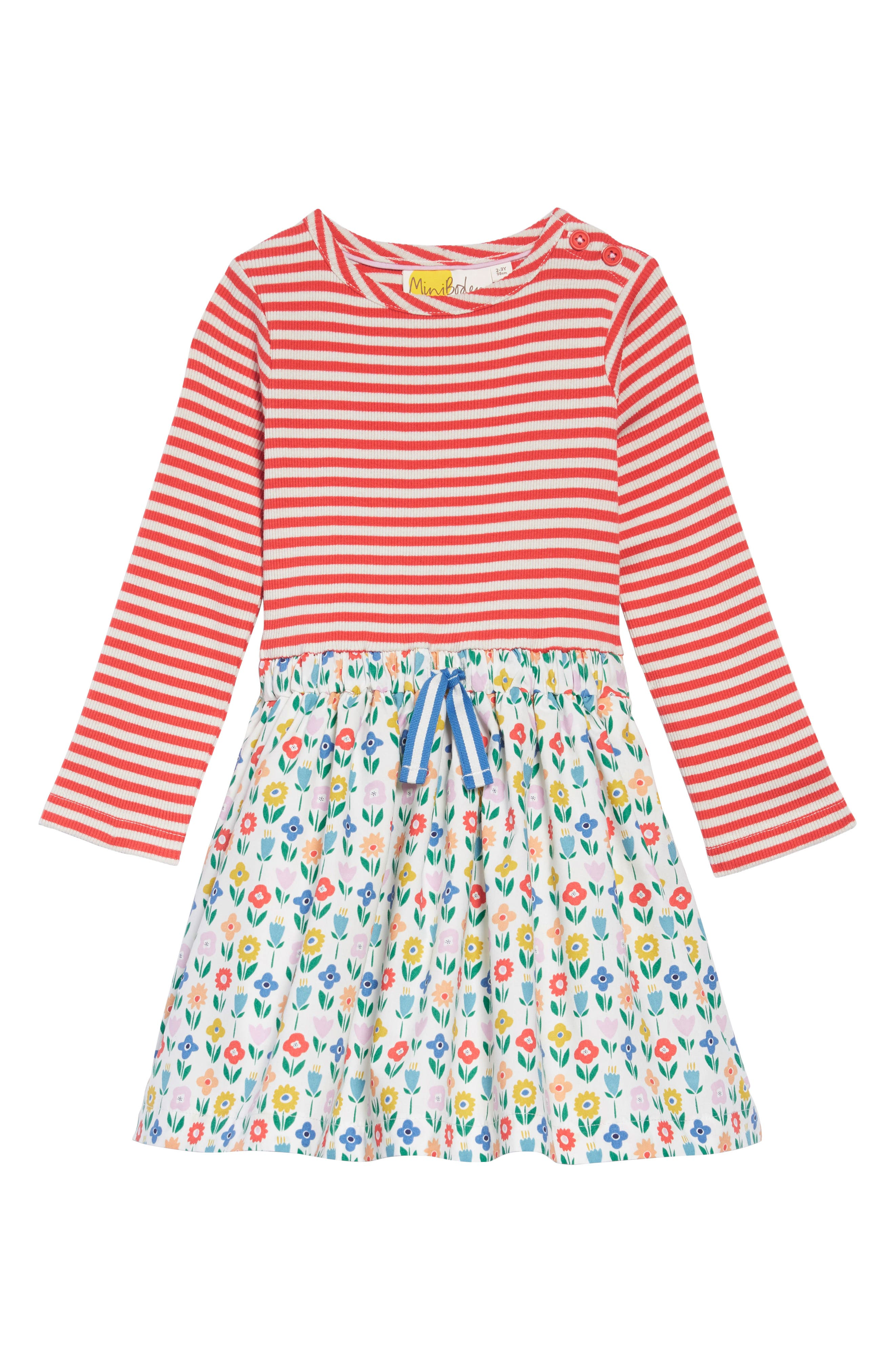 Hotchpotch Dress, Main, color, IVO IVORY FLOWER PATCH