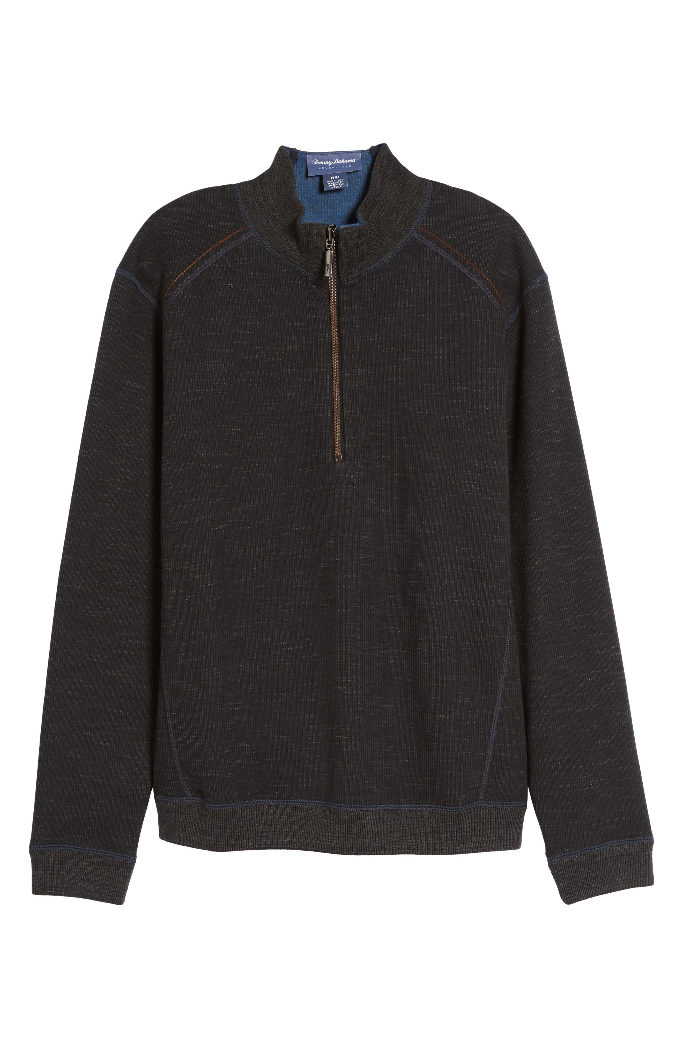 Flipsider Half Zip Reversible Sweatshirt,                             Alternate thumbnail 6, color,                             003