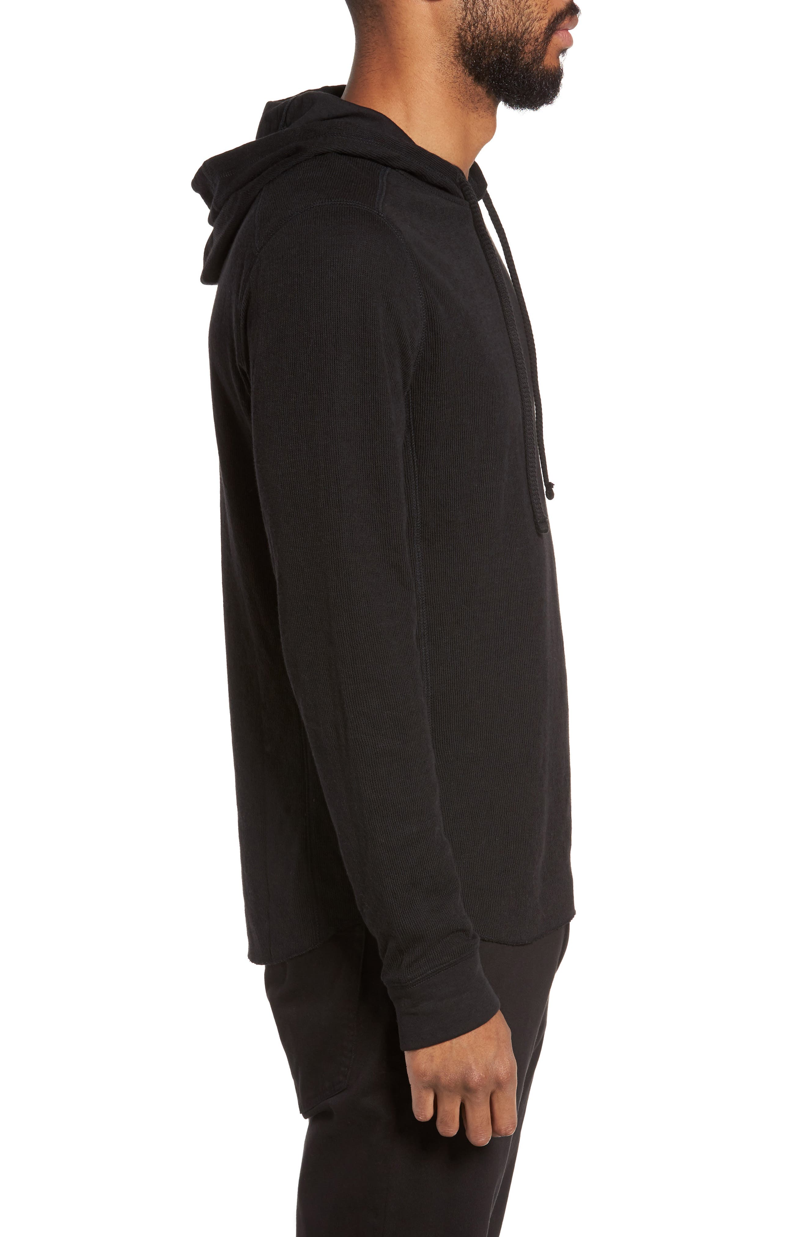 Double Knit Hoodie,                             Alternate thumbnail 3, color,                             001