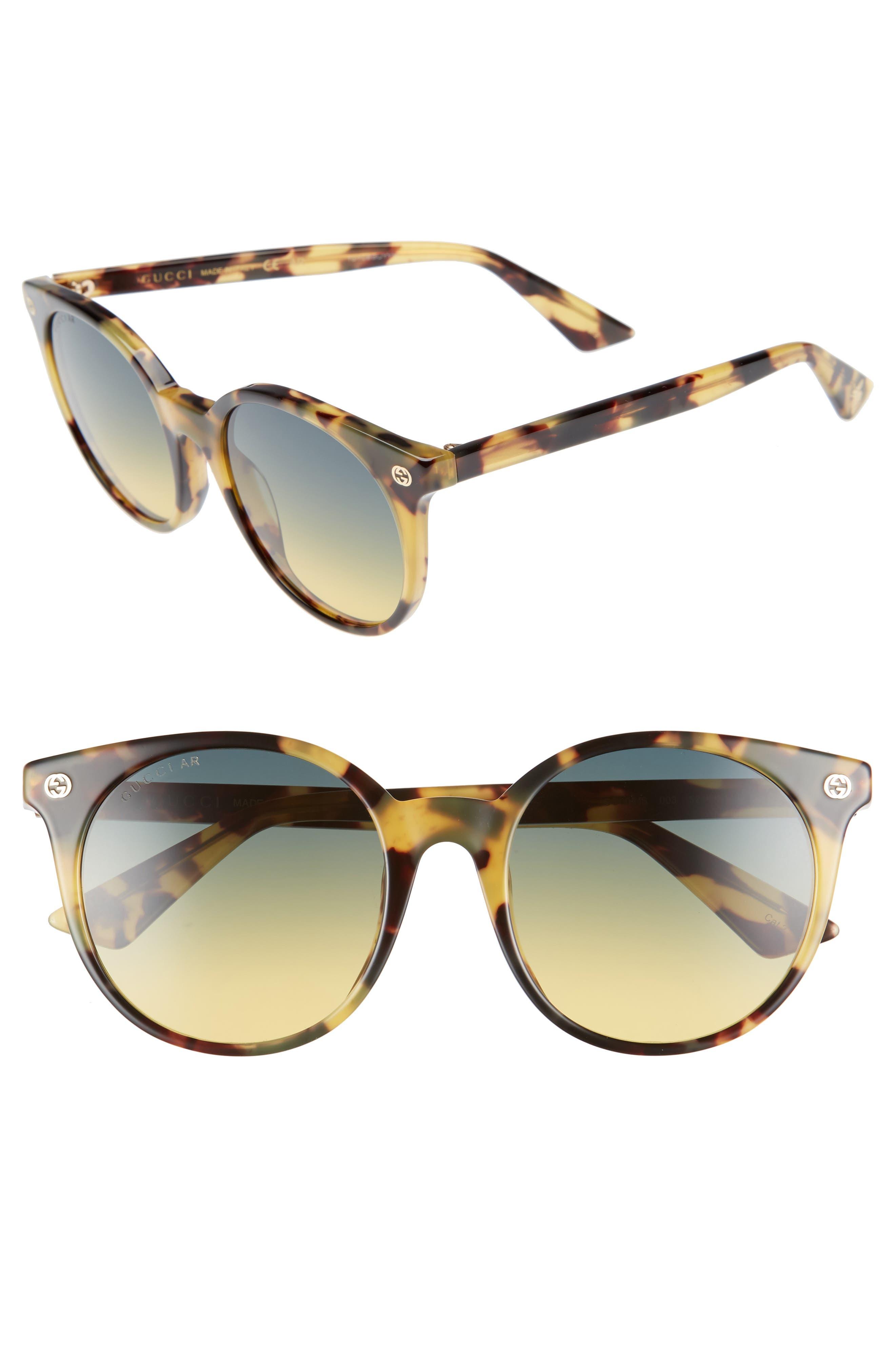 52mm Round Sunglasses,                             Main thumbnail 4, color,