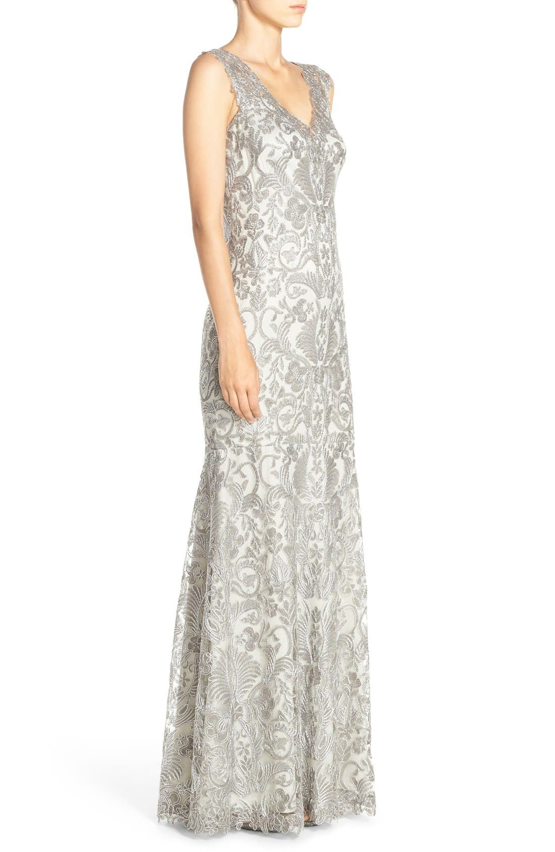 Kelly Embroidered Mermaid Gown,                             Alternate thumbnail 11, color,