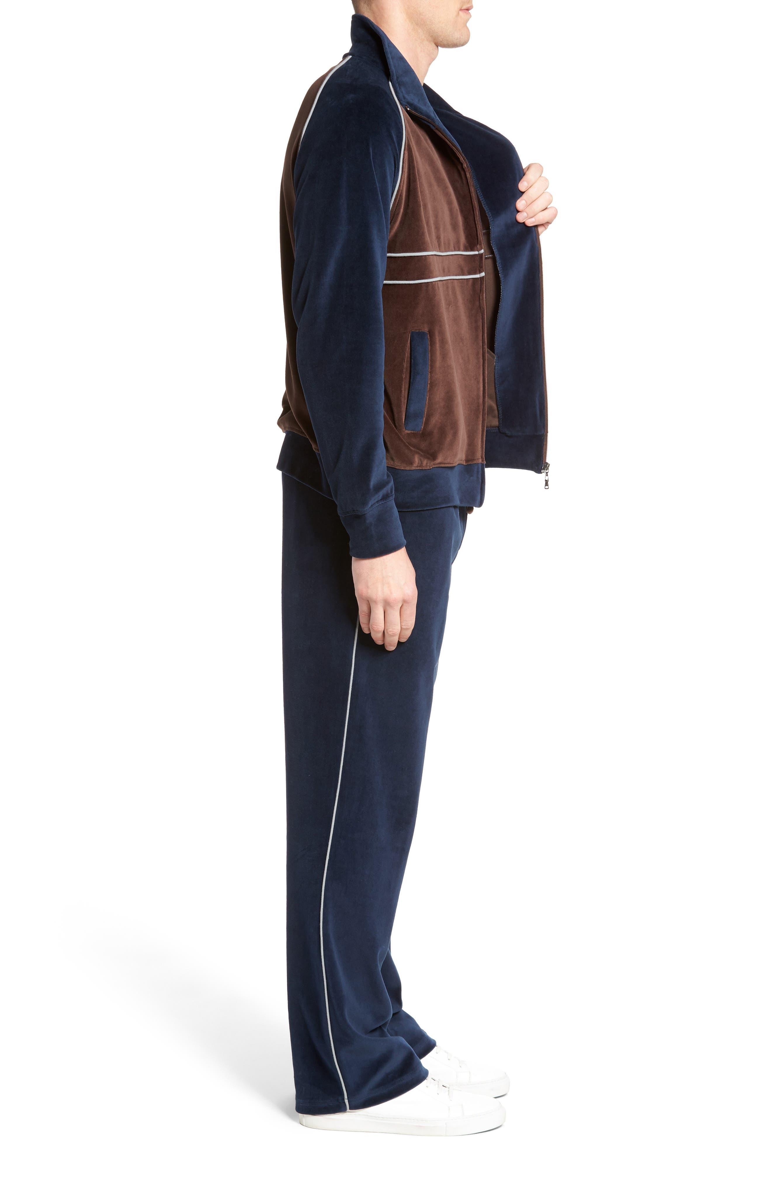 Strathcona Velour Warm-Up Suit,                             Alternate thumbnail 3, color,                             410